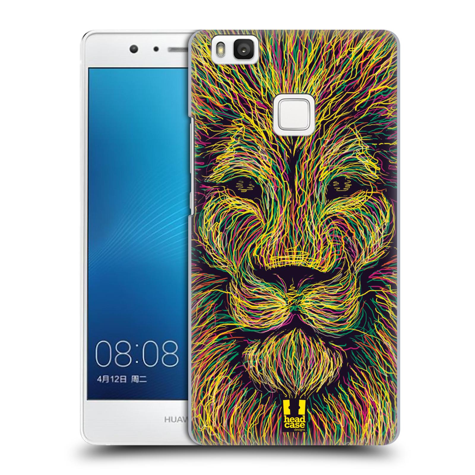 HEAD CASE plastový obal na mobil Huawei P9 LITE / P9 LITE DUAL SIM vzor zvíře čmáranice lev