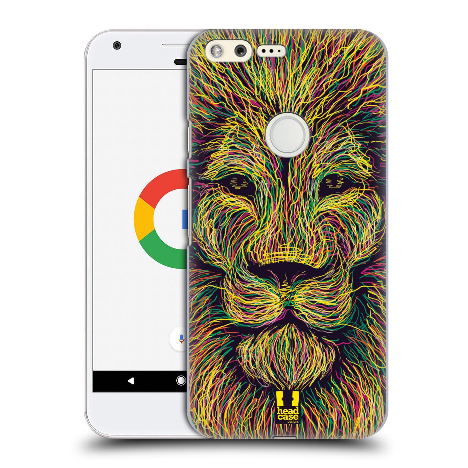 HEAD CASE plastový obal na mobil GOOGLE Pixel vzor zvíře čmáranice lev
