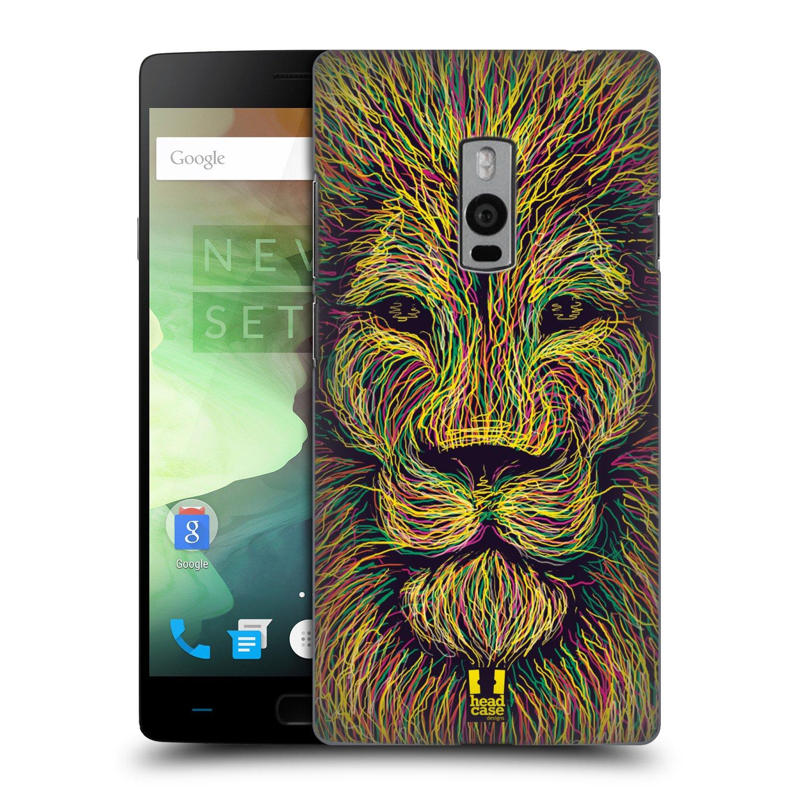 HEAD CASE pevný plastový obal na mobil OnePlus 2  ( TWO ) vzor zvíře čmáranice lev