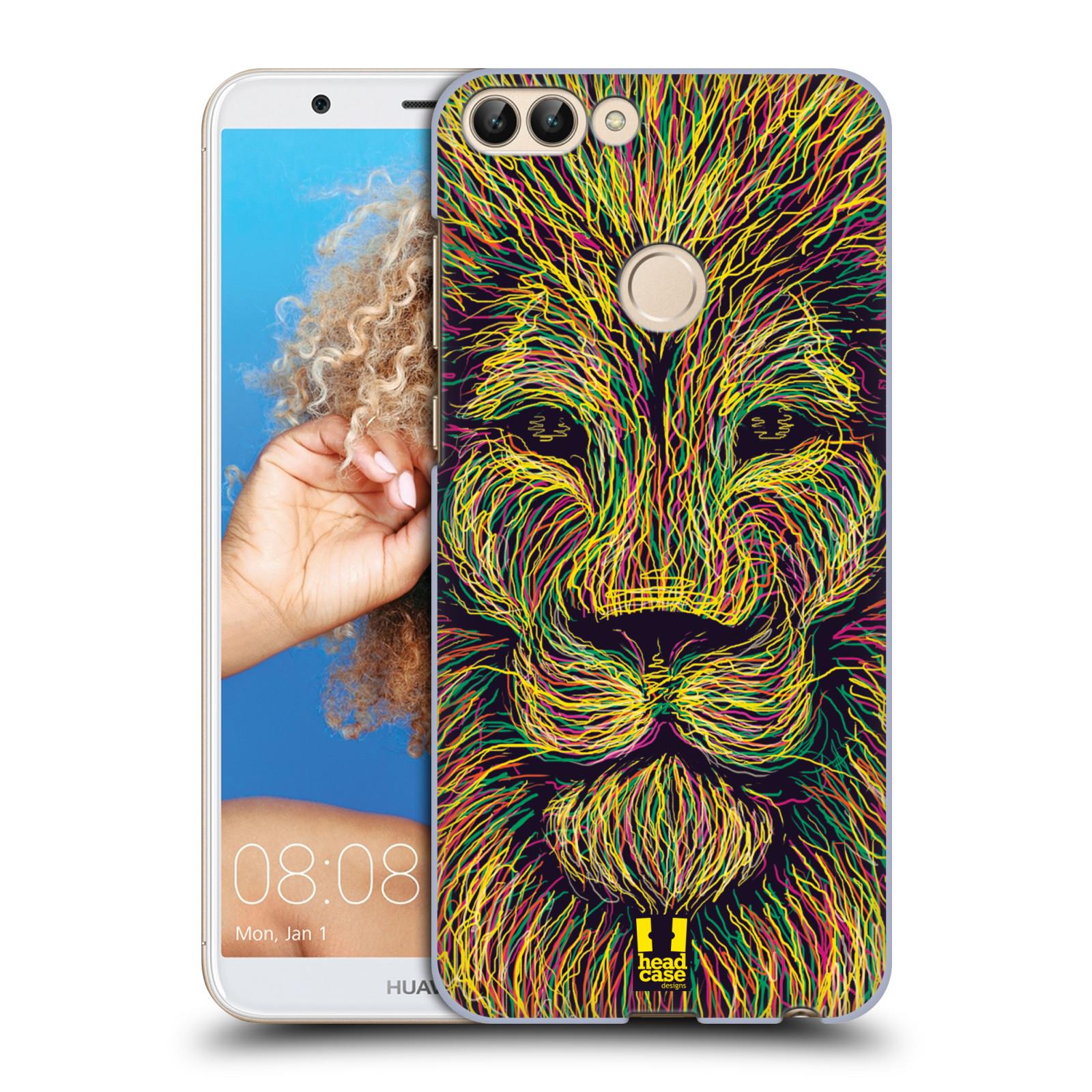 HEAD CASE plastový obal na mobil Huawei P Smart vzor zvíře čmáranice lev