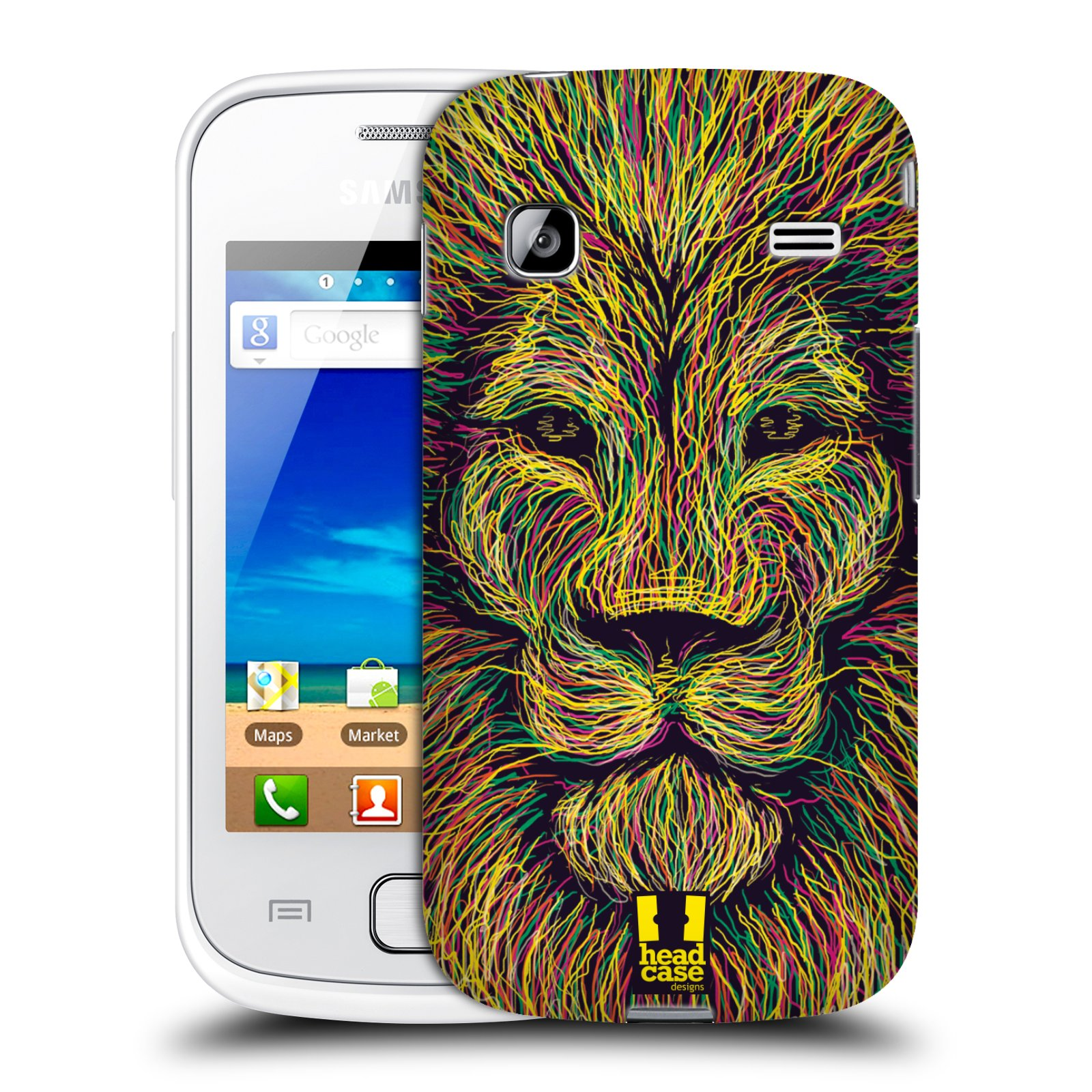 HEAD CASE plastový obal na mobil SAMSUNG GALAXY GIO (S5660) vzor zvíře čmáranice lev