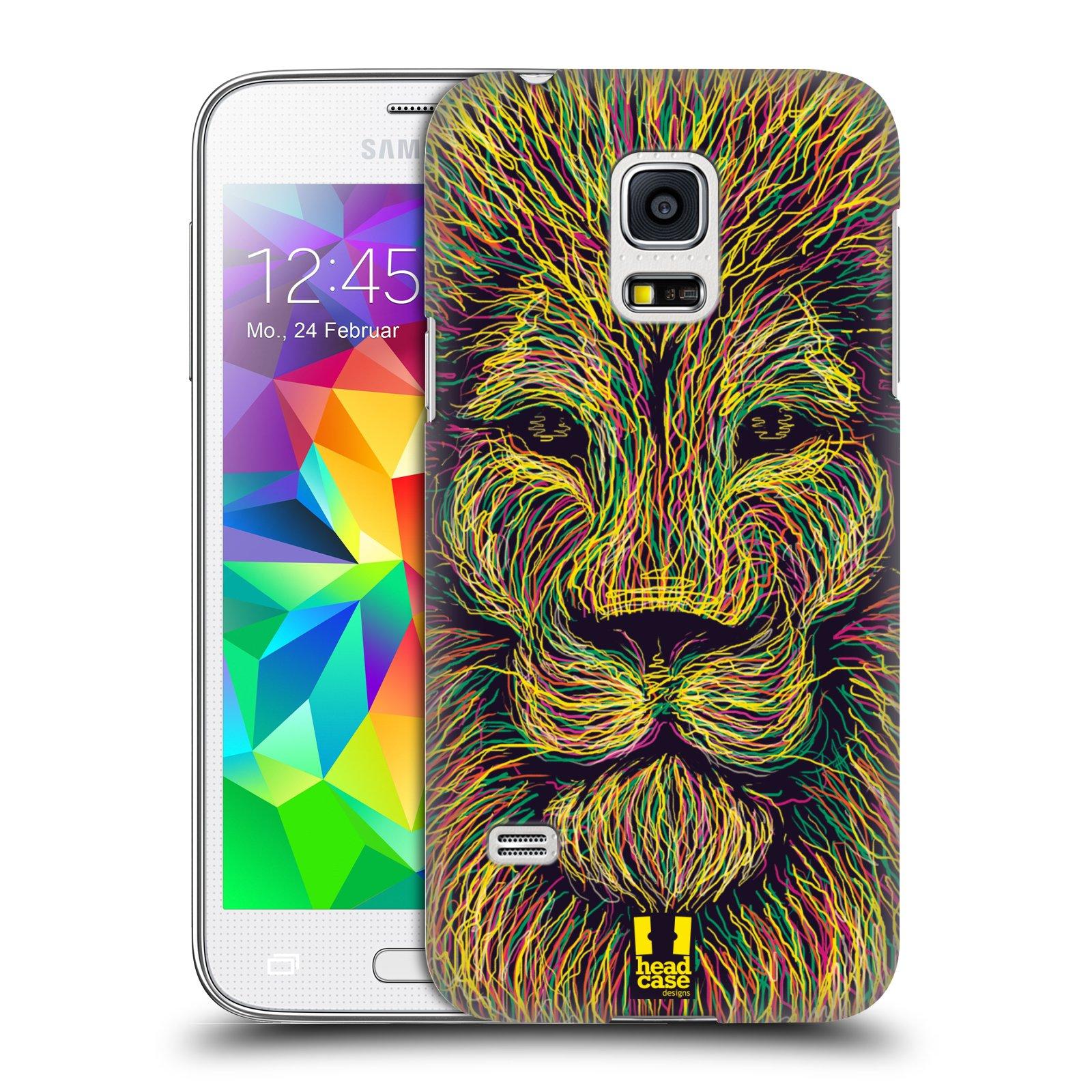 HEAD CASE plastový obal na mobil SAMSUNG Galaxy S5 MINI / S5 MINI DUOS vzor zvíře čmáranice lev