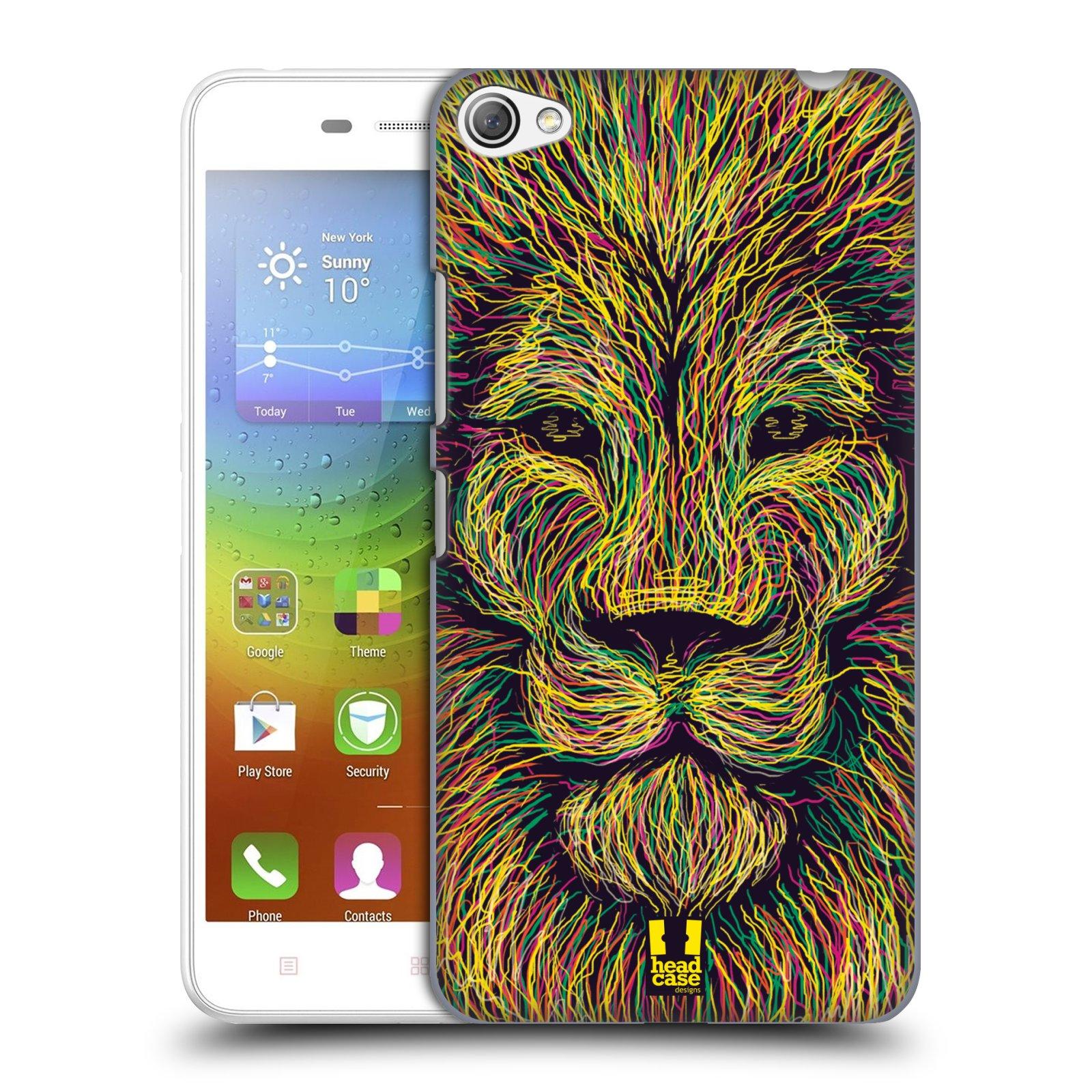 HEAD CASE pevný plastový obal na mobil LENOVO S60 / LENOVO S60 DUAL SIM vzor zvíře čmáranice lev