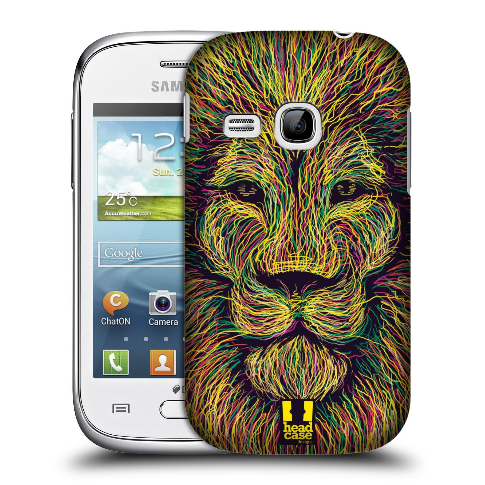HEAD CASE plastový obal na mobil SAMSUNG Galaxy Young S6310 vzor zvíře čmáranice lev