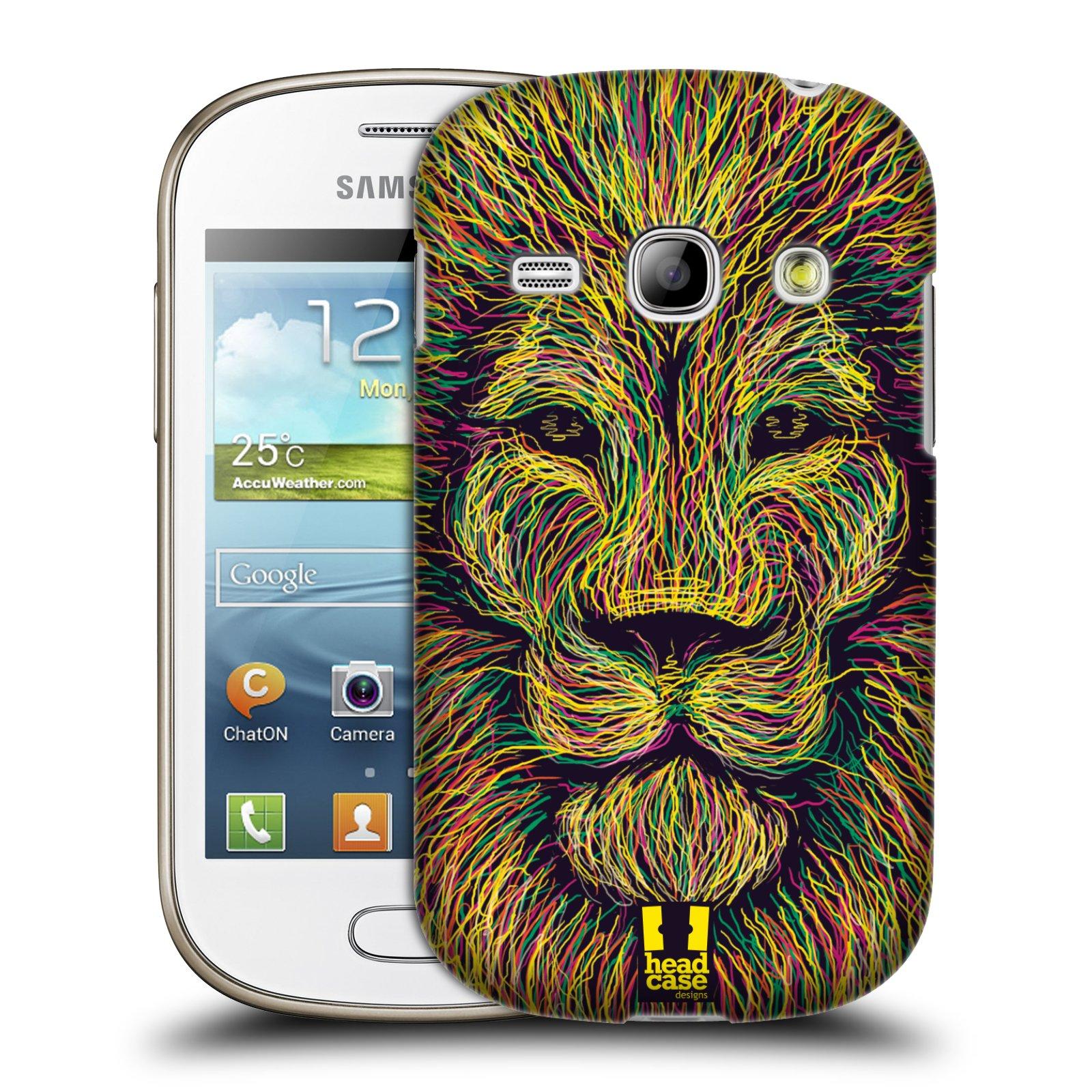 HEAD CASE plastový obal na mobil SAMSUNG GALAXY FAME (S6810) vzor zvíře čmáranice lev