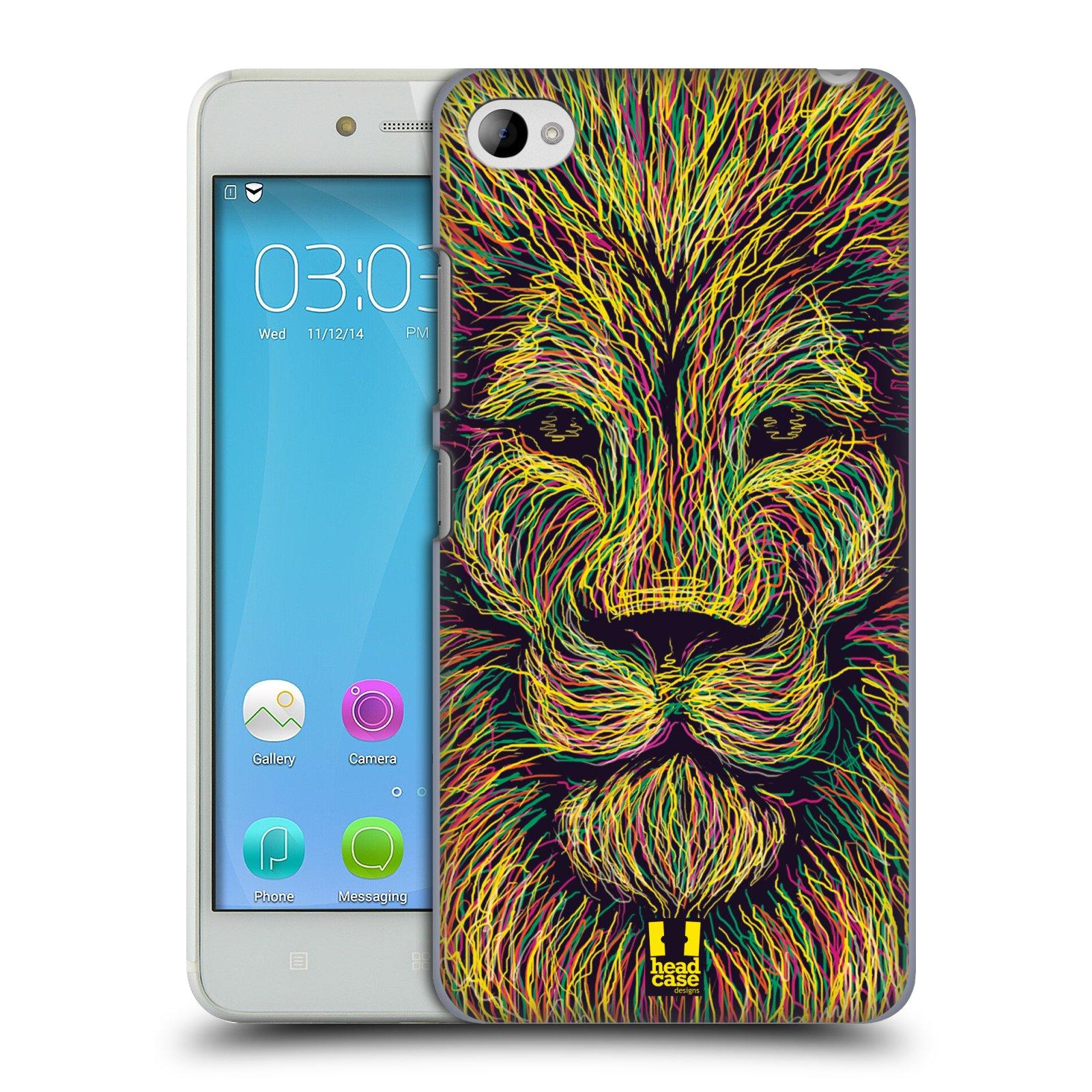 HEAD CASE pevný plastový obal na mobil LENOVO S90 vzor zvíře čmáranice lev