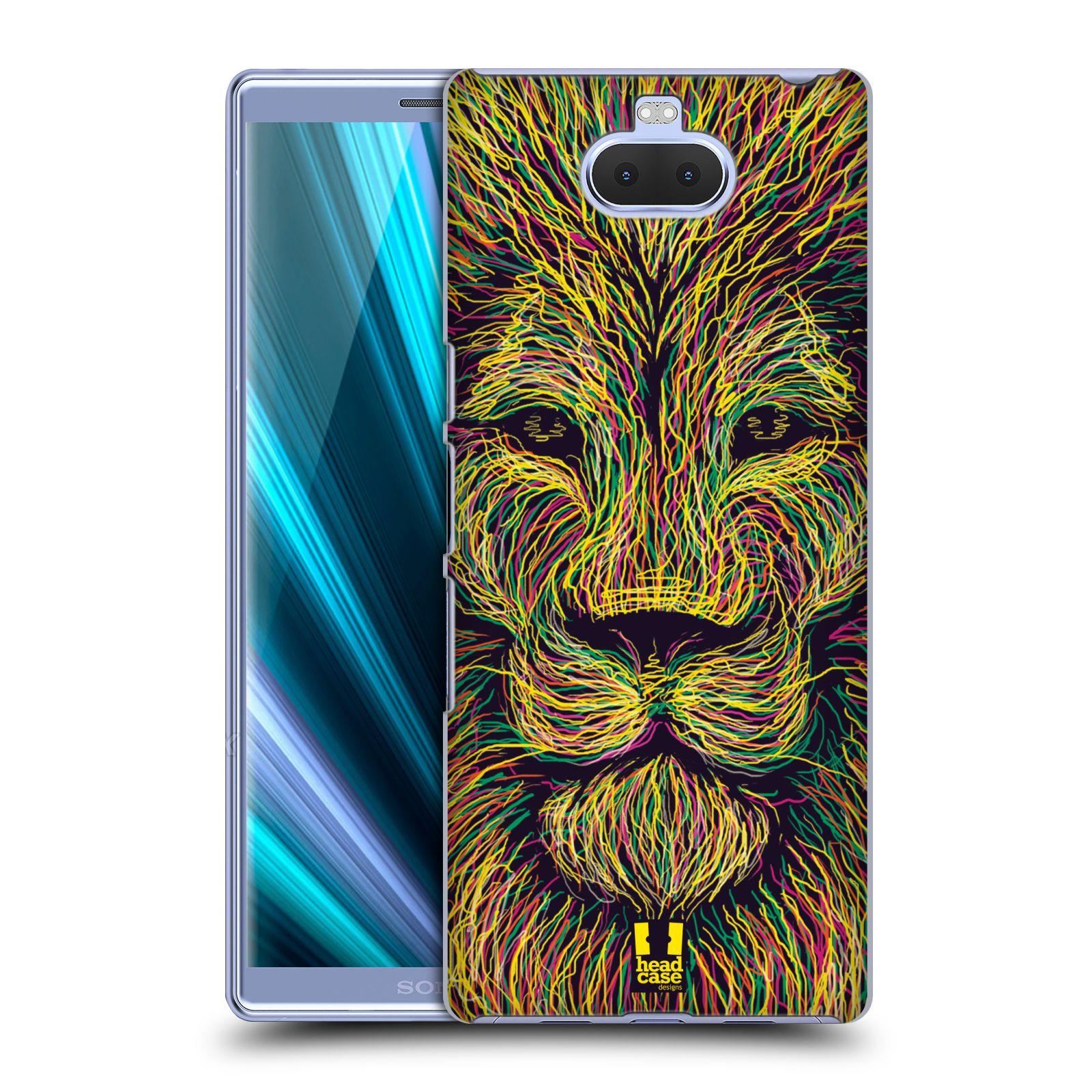 Pouzdro na mobil Sony Xperia 10 - Head Case - vzor zvíře čmáranice lev