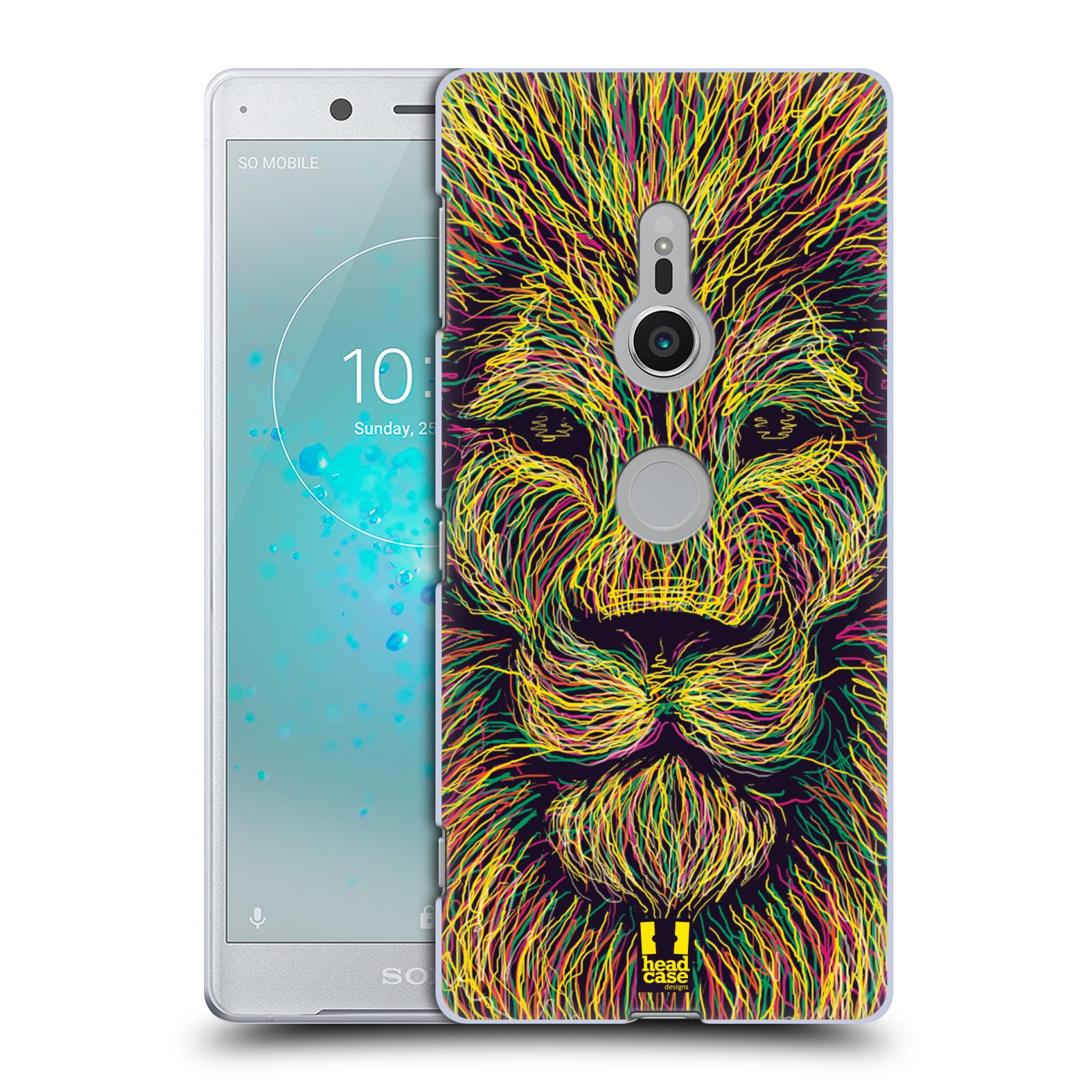 HEAD CASE plastový obal na mobil Sony Xperia XZ2 vzor zvíře čmáranice lev