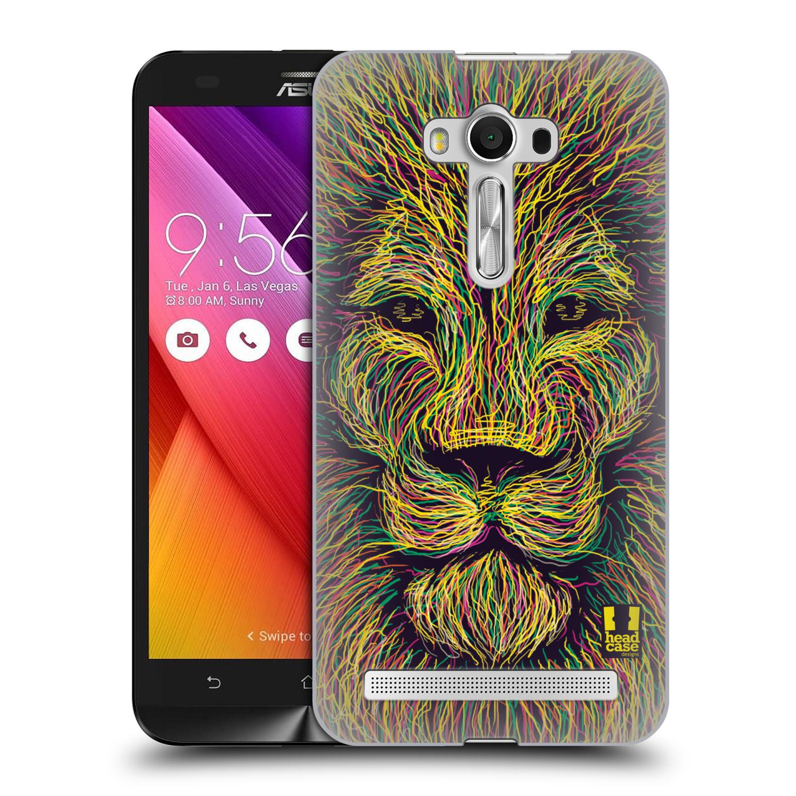 HEAD CASE plastový obal na mobil Asus Zenfone 2 LASER (5,5 displej ZE550KL) vzor zvíře čmáranice lev