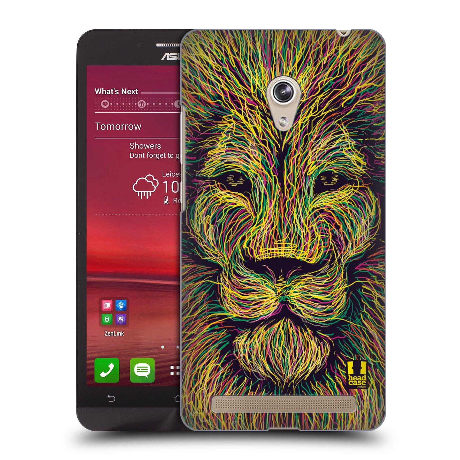 HEAD CASE plastový obal na mobil Asus Zenfone 6 vzor zvíře čmáranice lev