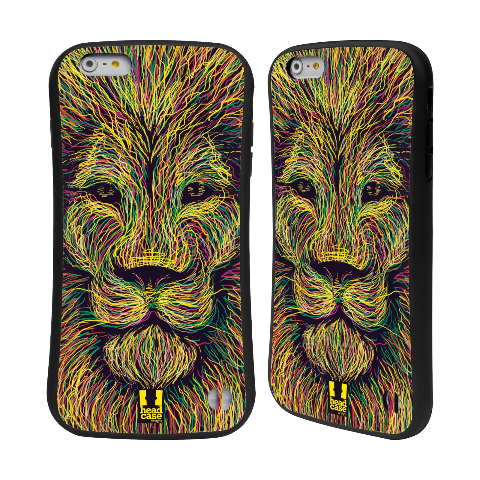 HEAD CASE silikon/plast odolný obal na mobil Apple Iphone 6 PLUS / 6S PLUS vzor zvíře čmáranice lev