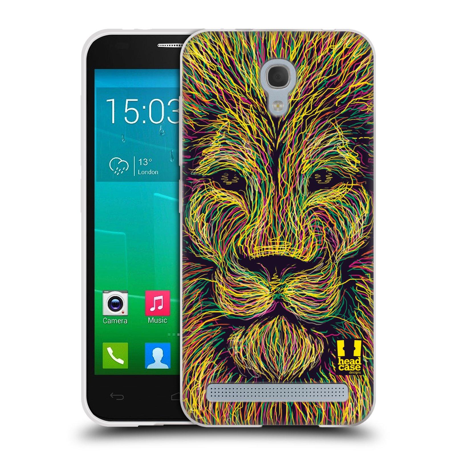 HEAD CASE silikonový obal na mobil Alcatel Idol 2 MINI S 6036Y vzor zvíře čmáranice lev