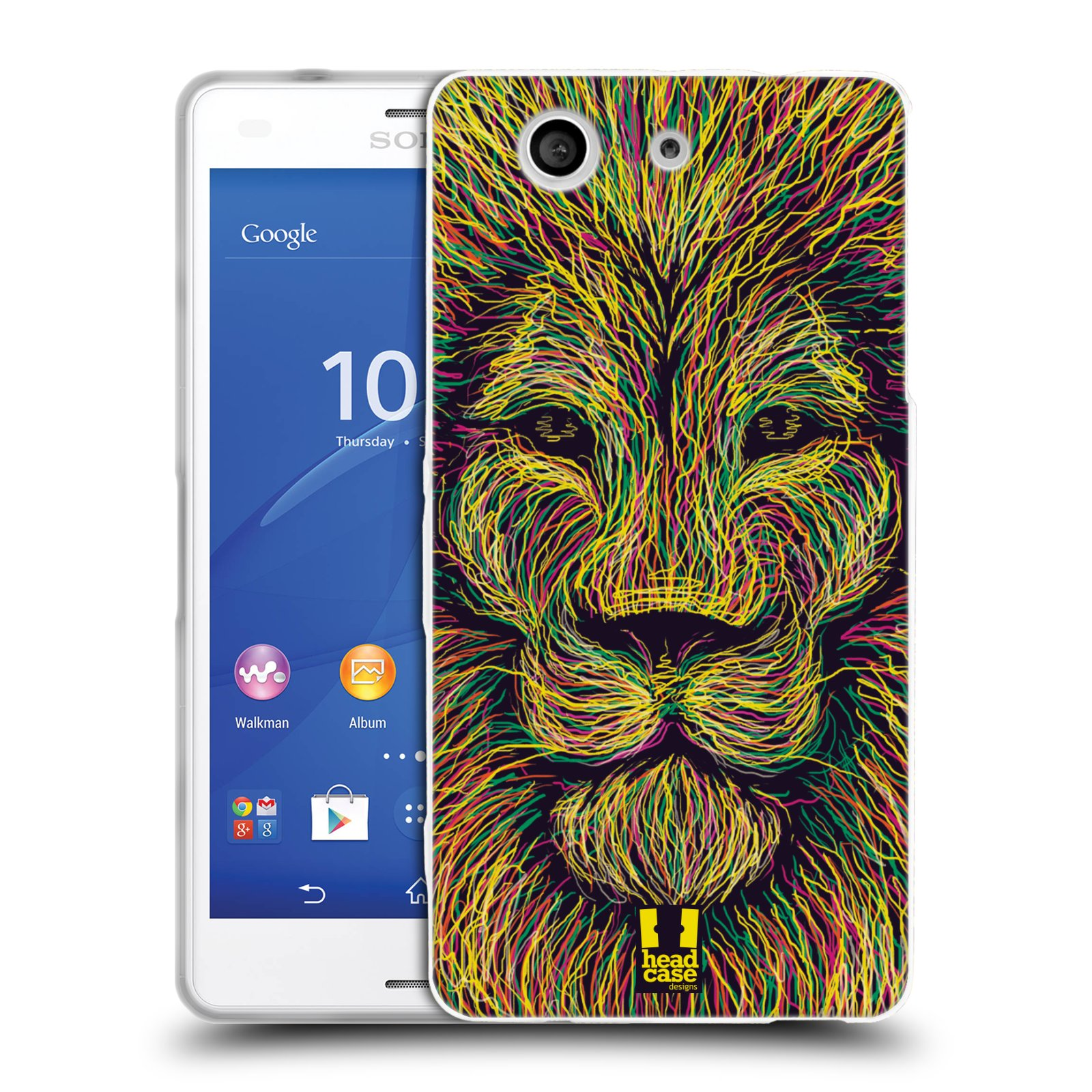 HEAD CASE silikonový obal na mobil Sony Xperia Z3 COMPACT (D5803) vzor zvíře čmáranice lev