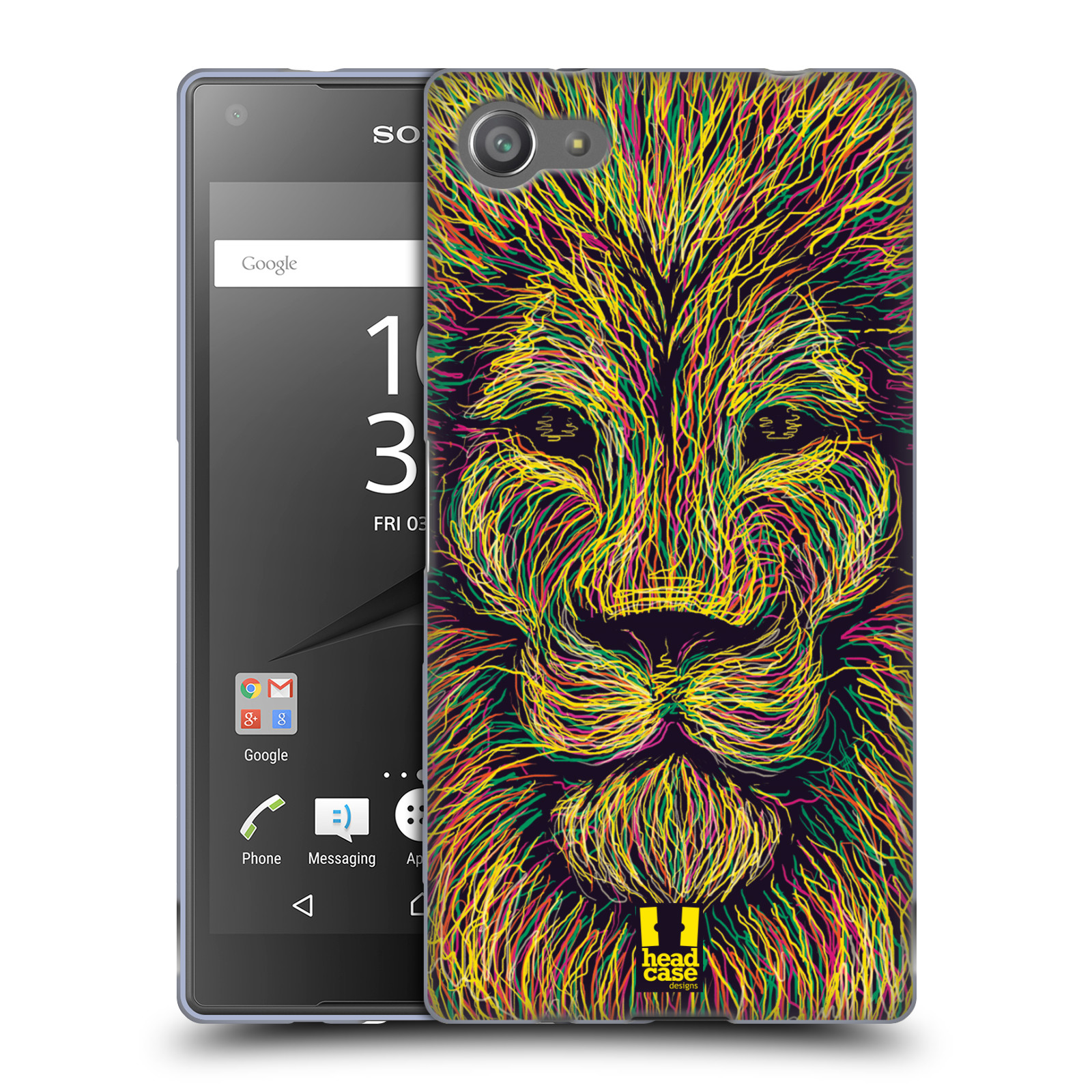HEAD CASE silikonový obal na mobil Sony Xperia Z5 COMPACT vzor zvíře čmáranice lev