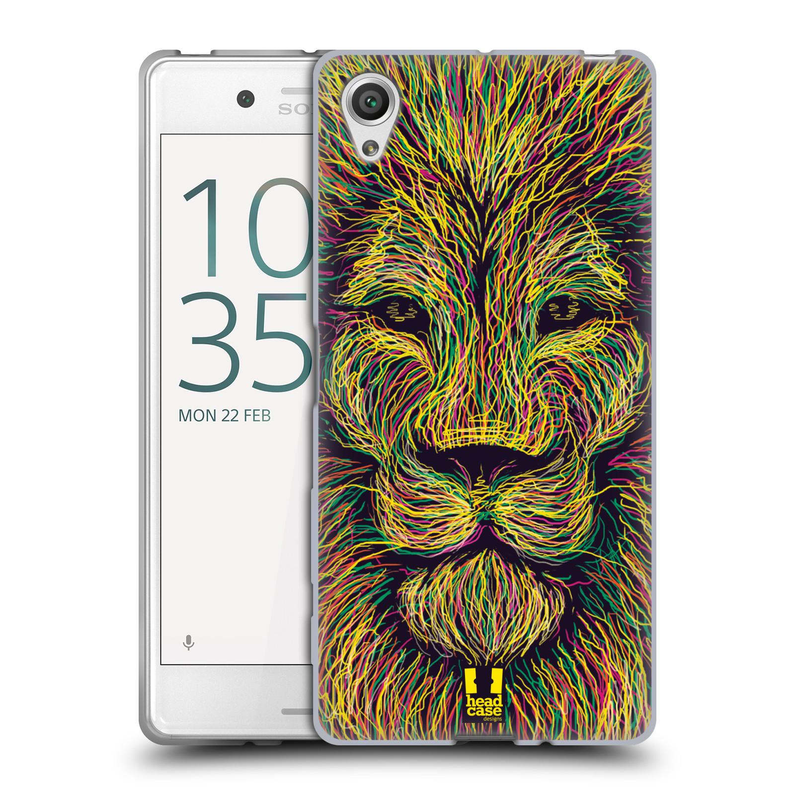 HEAD CASE silikonový obal na mobil Sony Xperia X / X DUAL vzor zvíře čmáranice lev