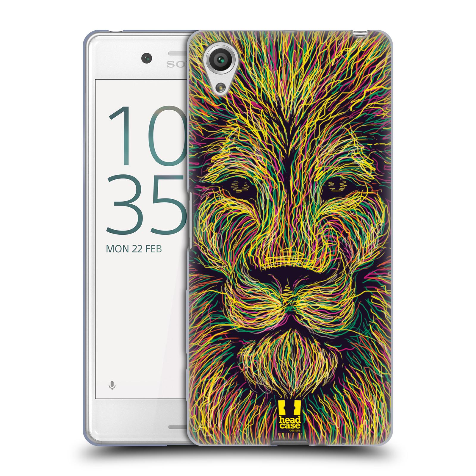 HEAD CASE silikonový obal na mobil Sony Xperia X PERFORMANCE (F8131, F8132) vzor zvíře čmáranice lev