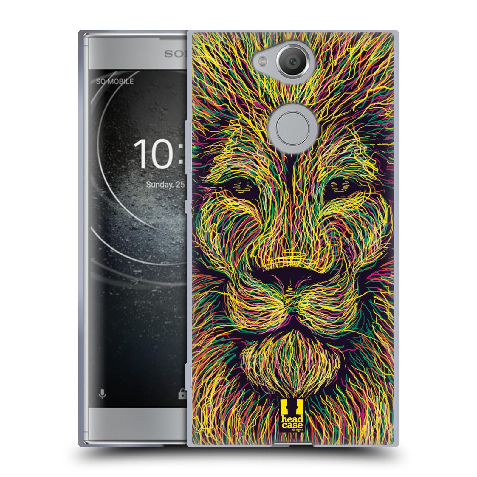 Pouzdro na mobil Sony Xperia XA2 (DUAL SIM, SINGLE SIM) vzor zvíře čmáranice lev