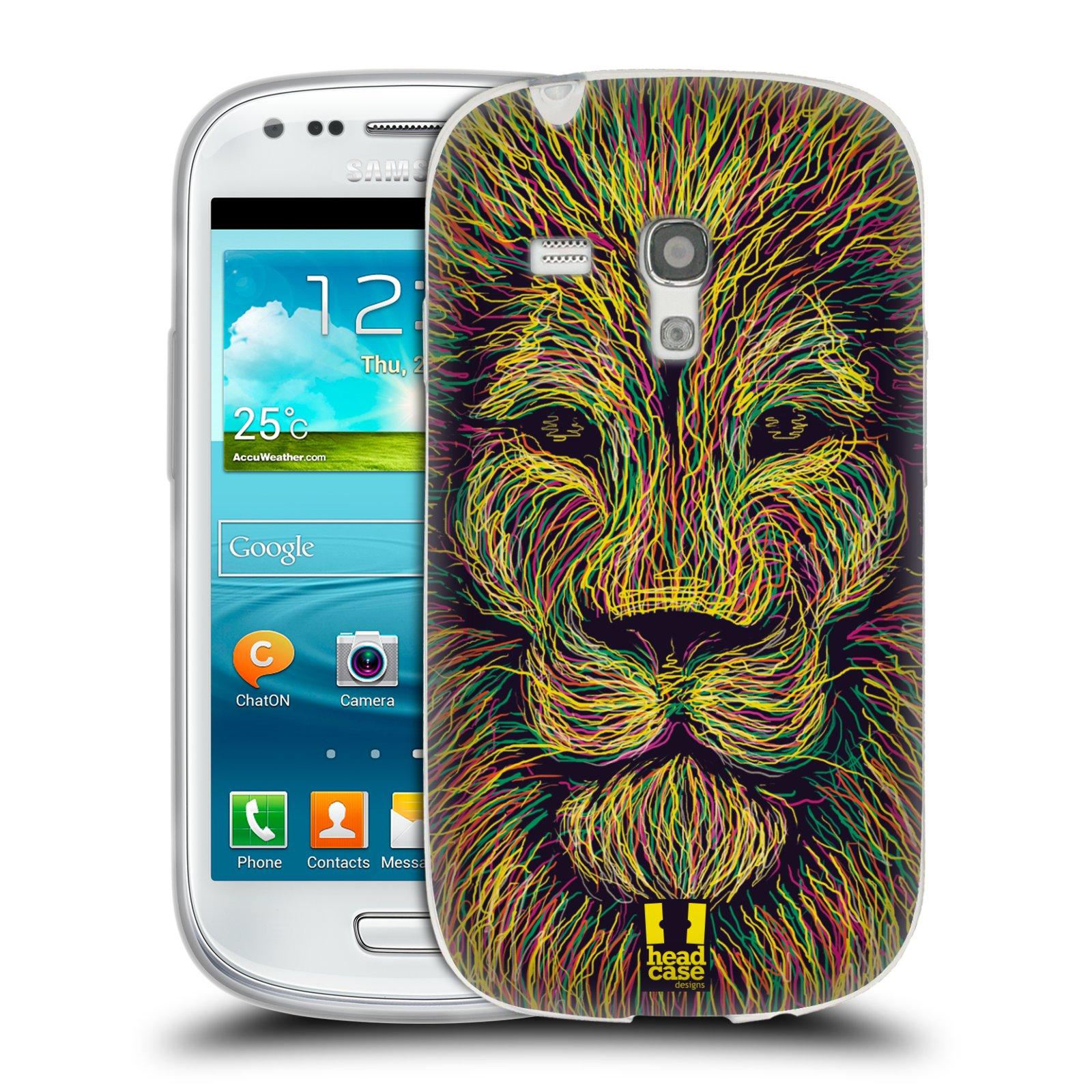 HEAD CASE silikonový obal na mobil Samsung Galaxy S3 MINI i8190 vzor zvíře čmáranice lev