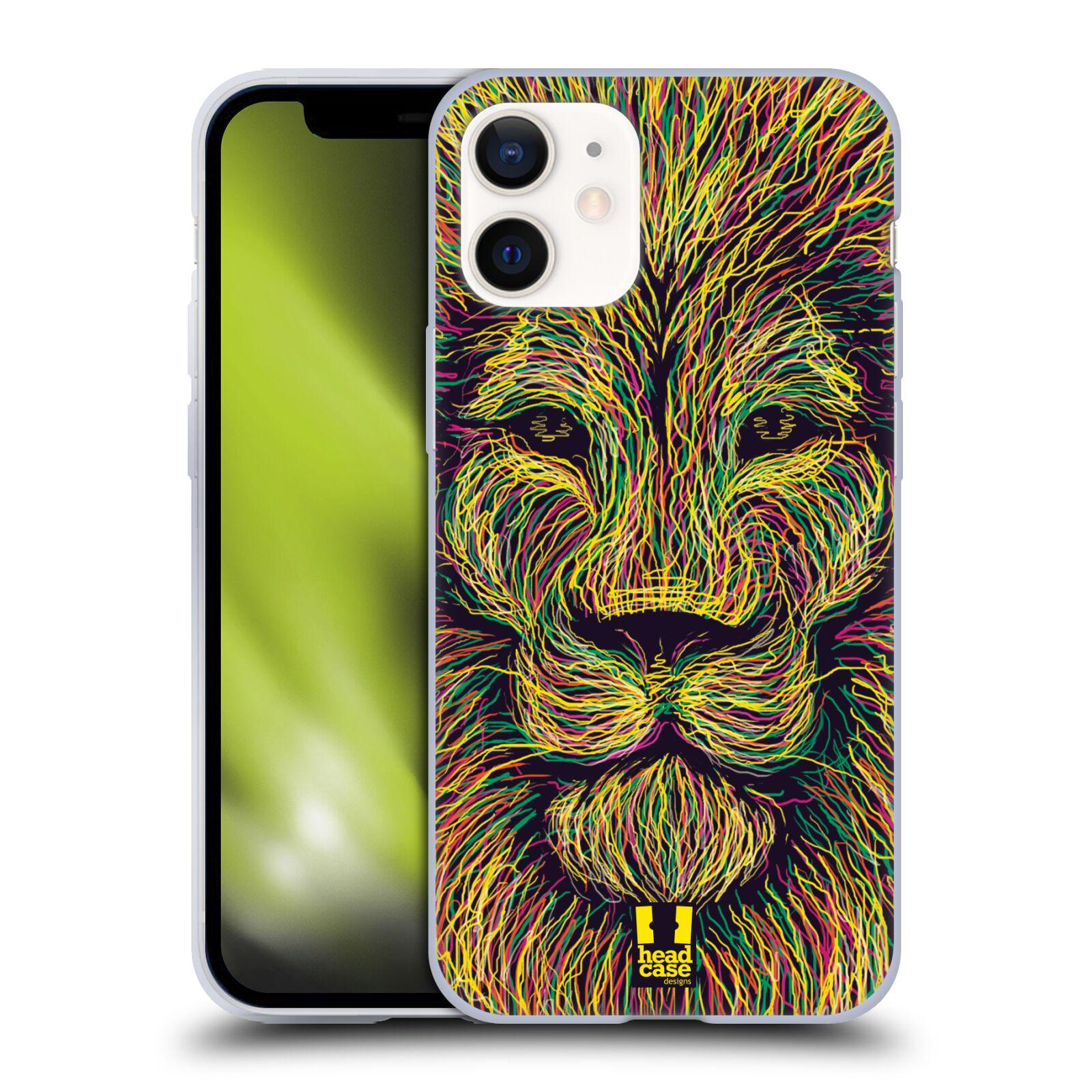 Plastový obal na mobil Apple Iphone 12 MINI vzor zvíře čmáranice lev
