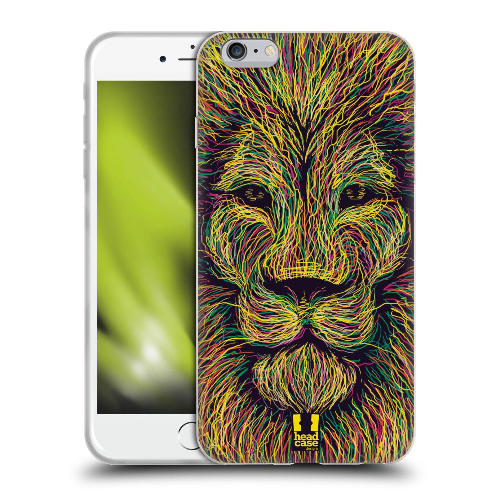 HEAD CASE silikonový obal na mobil Apple Iphone 6 PLUS/ 6S PLUS vzor zvíře čmáranice lev