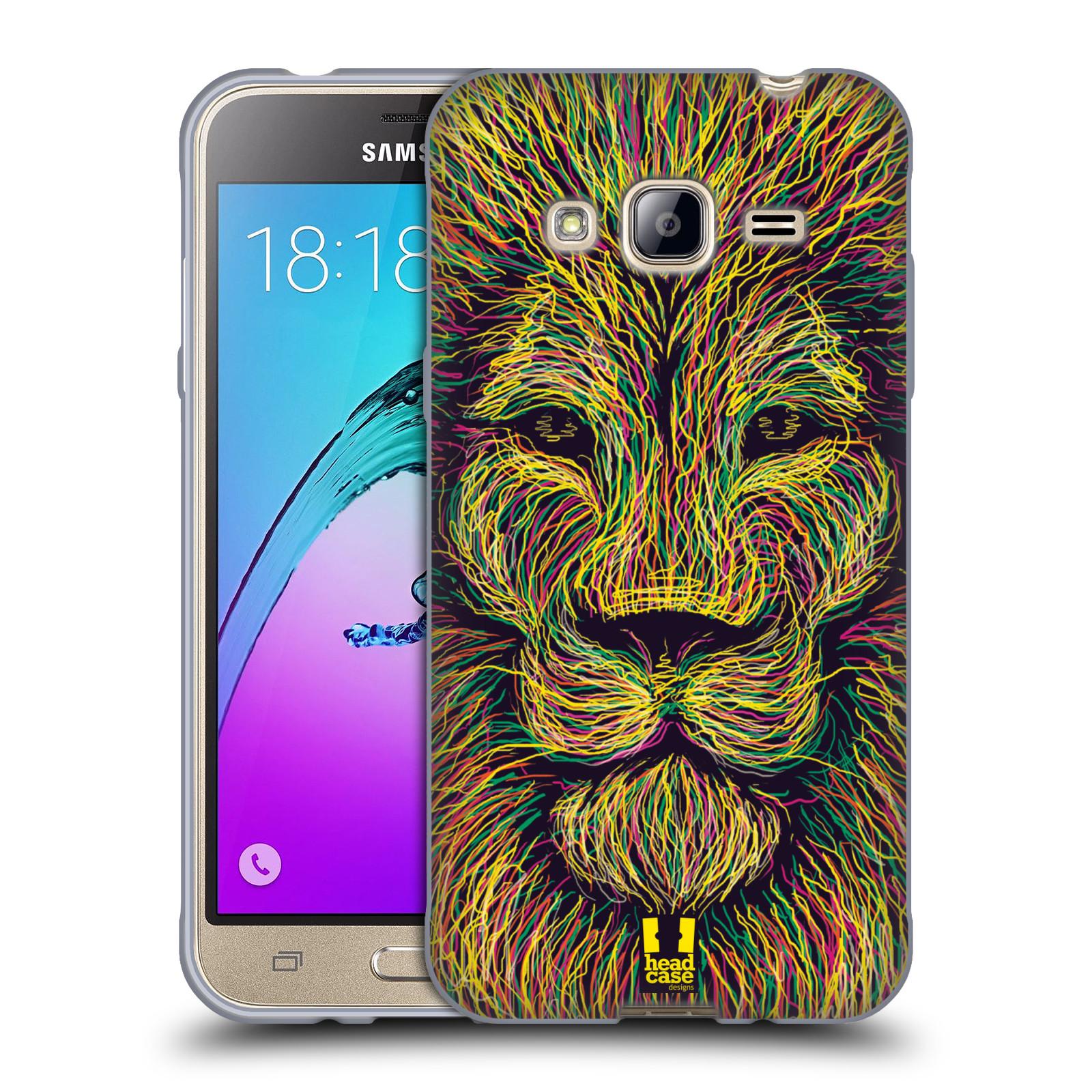 HEAD CASE silikonový obal na mobil Samsung Galaxy J3, J3 2016 vzor zvíře čmáranice lev