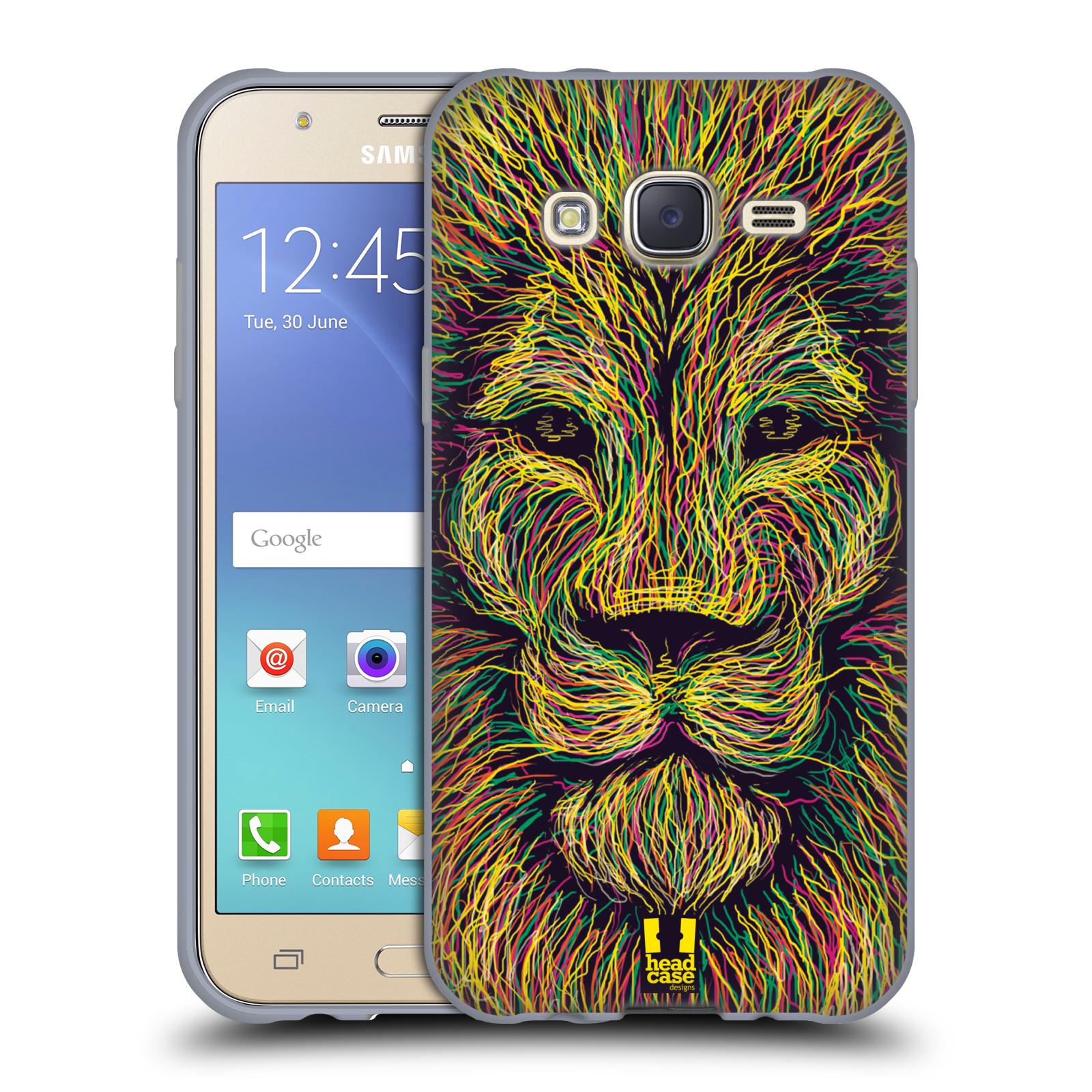 HEAD CASE silikonový obal na mobil Samsung Galaxy J5, J500, (J5 DUOS) vzor zvíře čmáranice lev