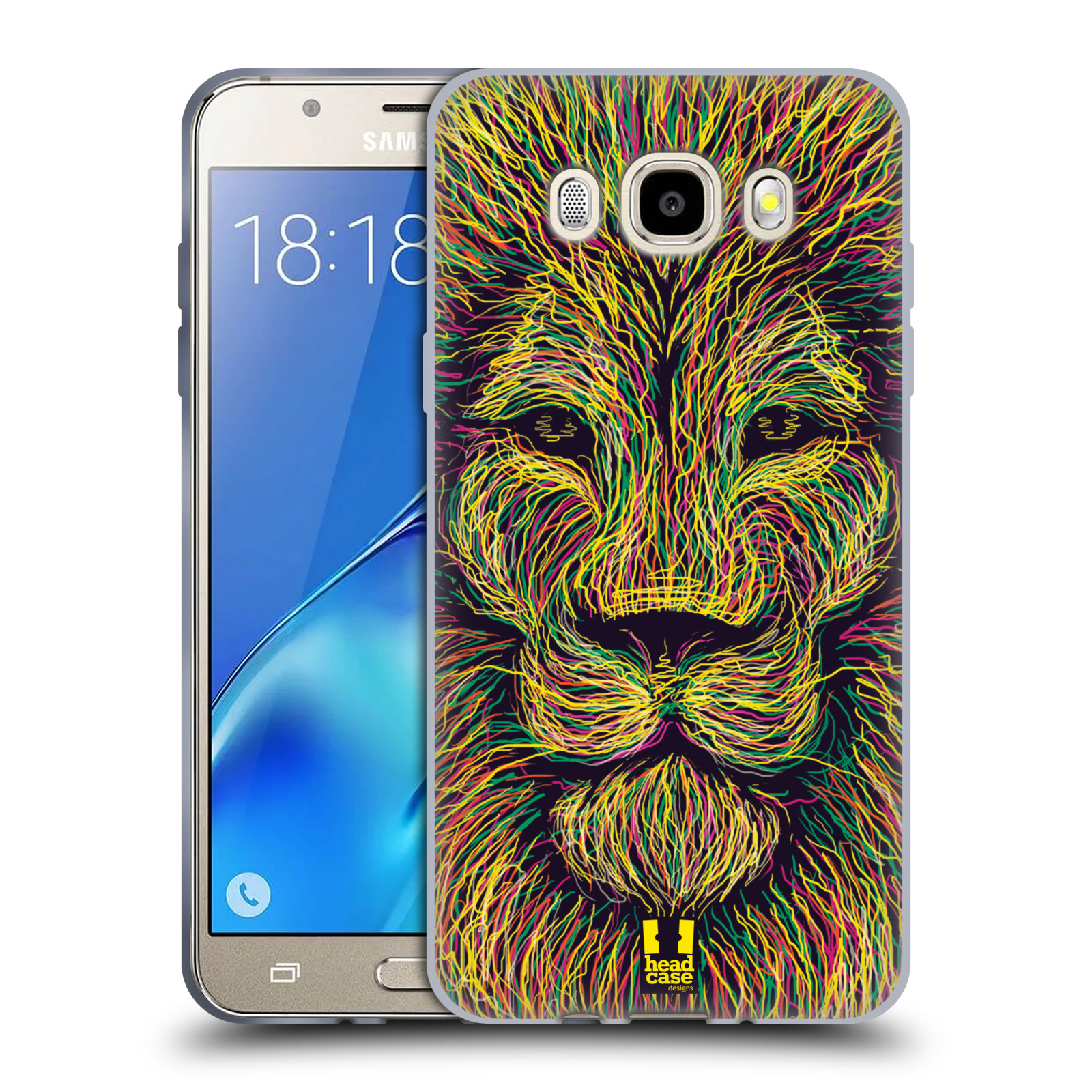 HEAD CASE silikonový obal, kryt na mobil Samsung Galaxy J5 2016, J510, J510F, (J510F DUAL SIM) vzor zvíře čmáranice lev