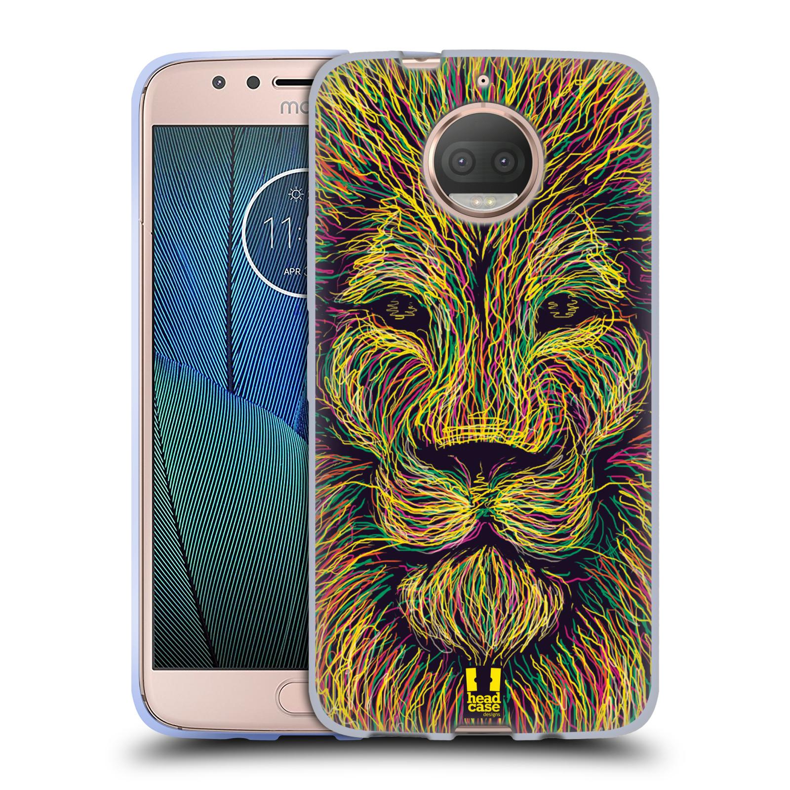 HEAD CASE silikonový obal na mobil Lenovo Moto G5s PLUS vzor zvíře čmáranice lev