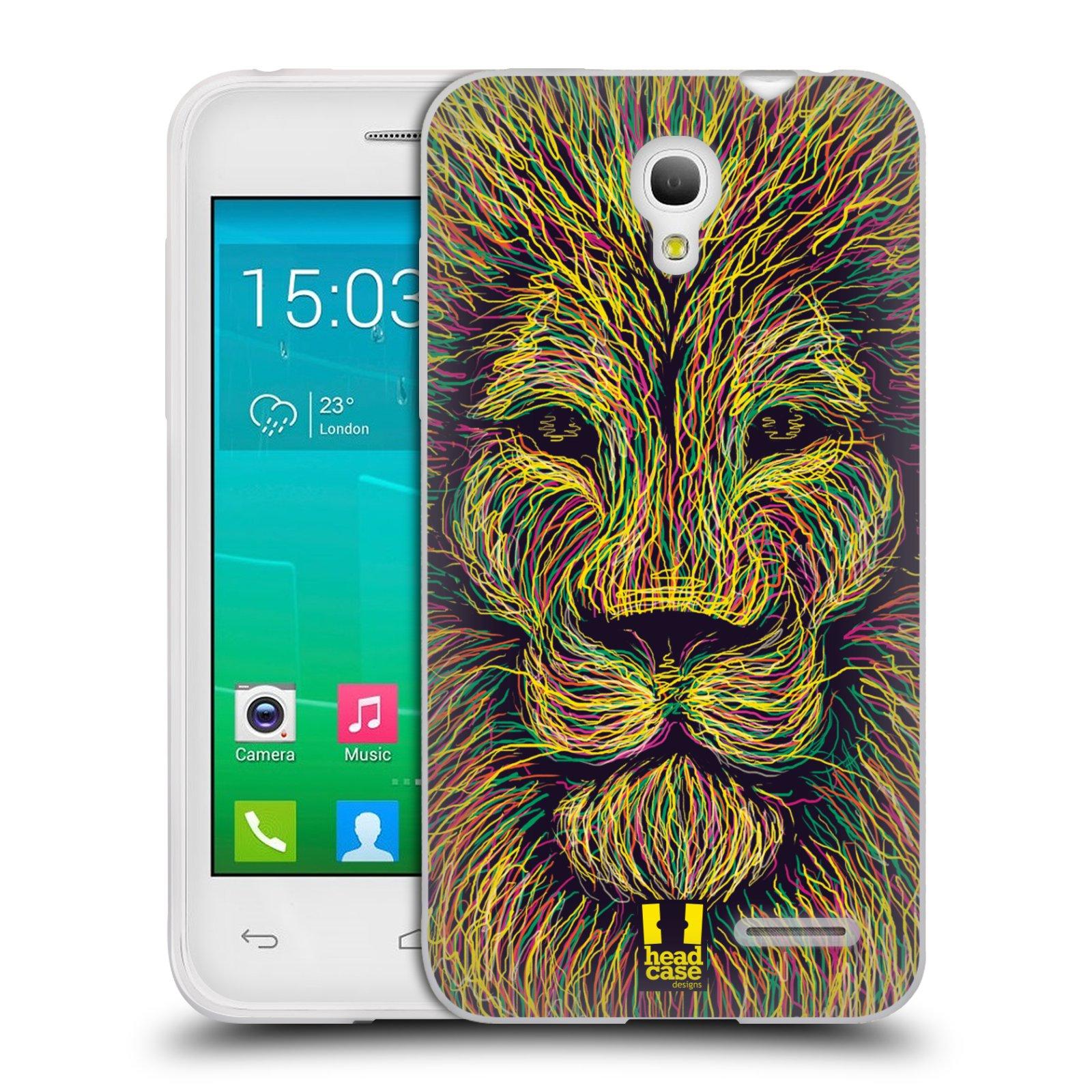 HEAD CASE silikonový obal na mobil Alcatel POP S3 OT-5050Y vzor zvíře čmáranice lev