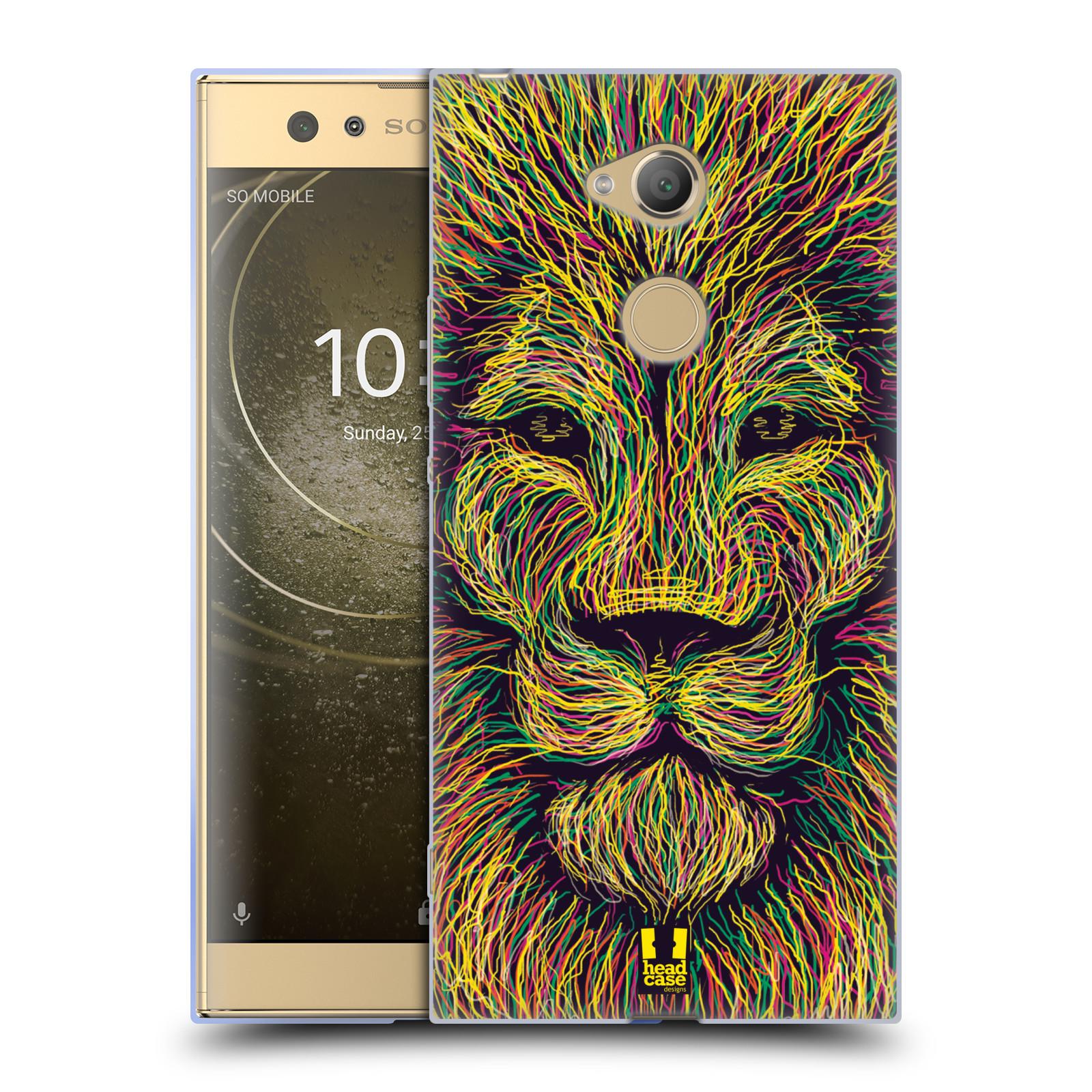 Pouzdro na mobil Sony Xperia XA2 Ultra vzor zvíře čmáranice lev