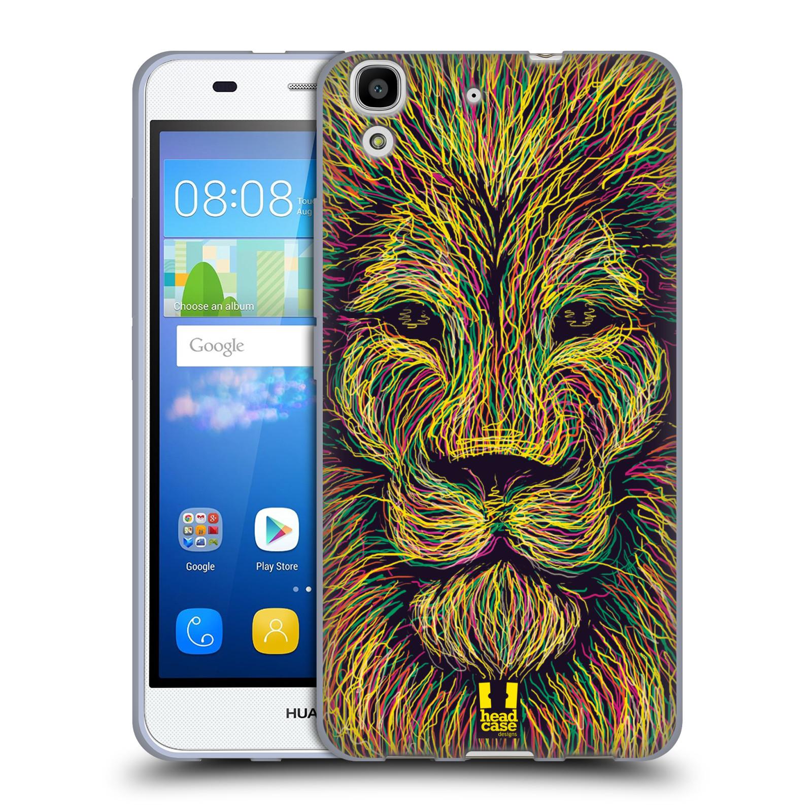 HEAD CASE silikonový obal na mobil HUAWEI Y6 vzor zvíře čmáranice lev