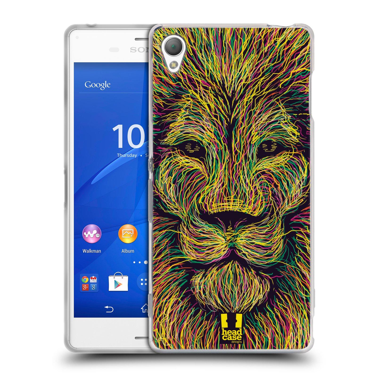 HEAD CASE silikonový obal na mobil Sony Xperia Z3 vzor zvíře čmáranice lev