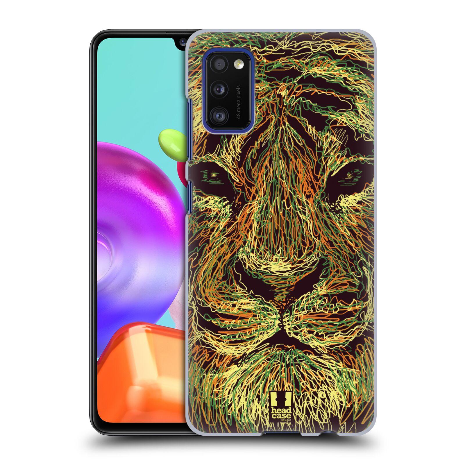 Zadní kryt na mobil Samsung Galaxy A41 vzor zvíře čmáranice tygr