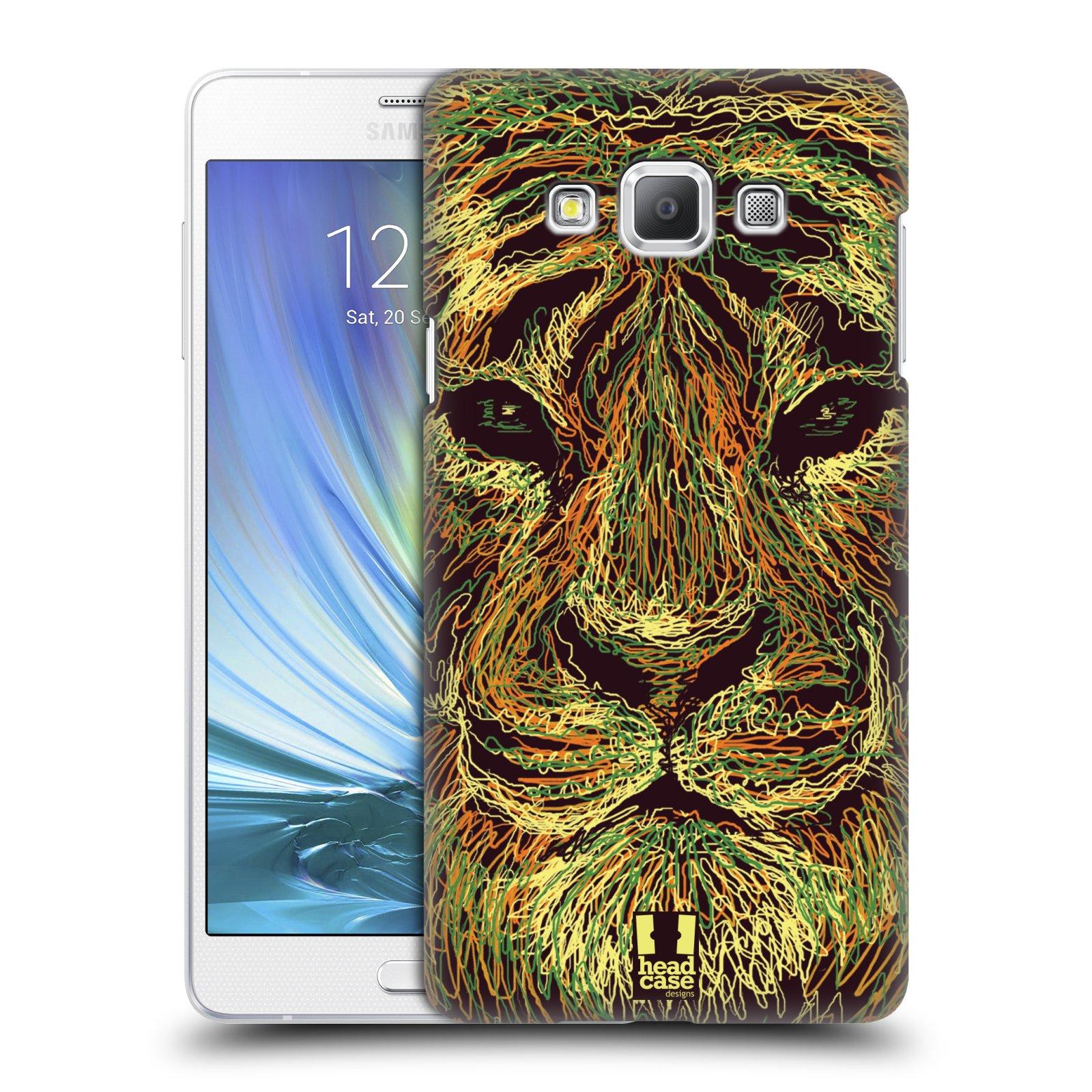 HEAD CASE plastový obal na mobil SAMSUNG GALAXY A7 vzor zvíře čmáranice tygr