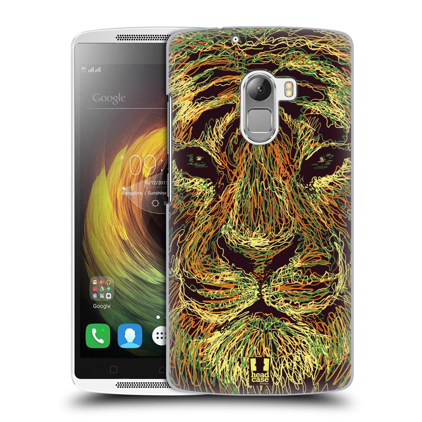 HEAD CASE pevný plastový obal na mobil LENOVO A7010 / A7010 DUAL / K4 Note / Vibe X3 lite vzor zvíře čmáranice tygr