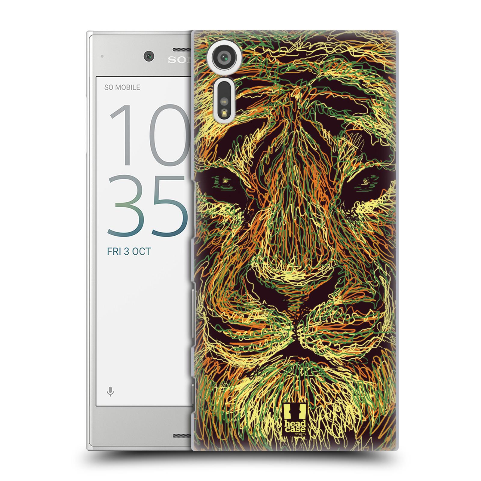 HEAD CASE plastový obal na mobil Sony Xperia XZ vzor zvíře čmáranice tygr