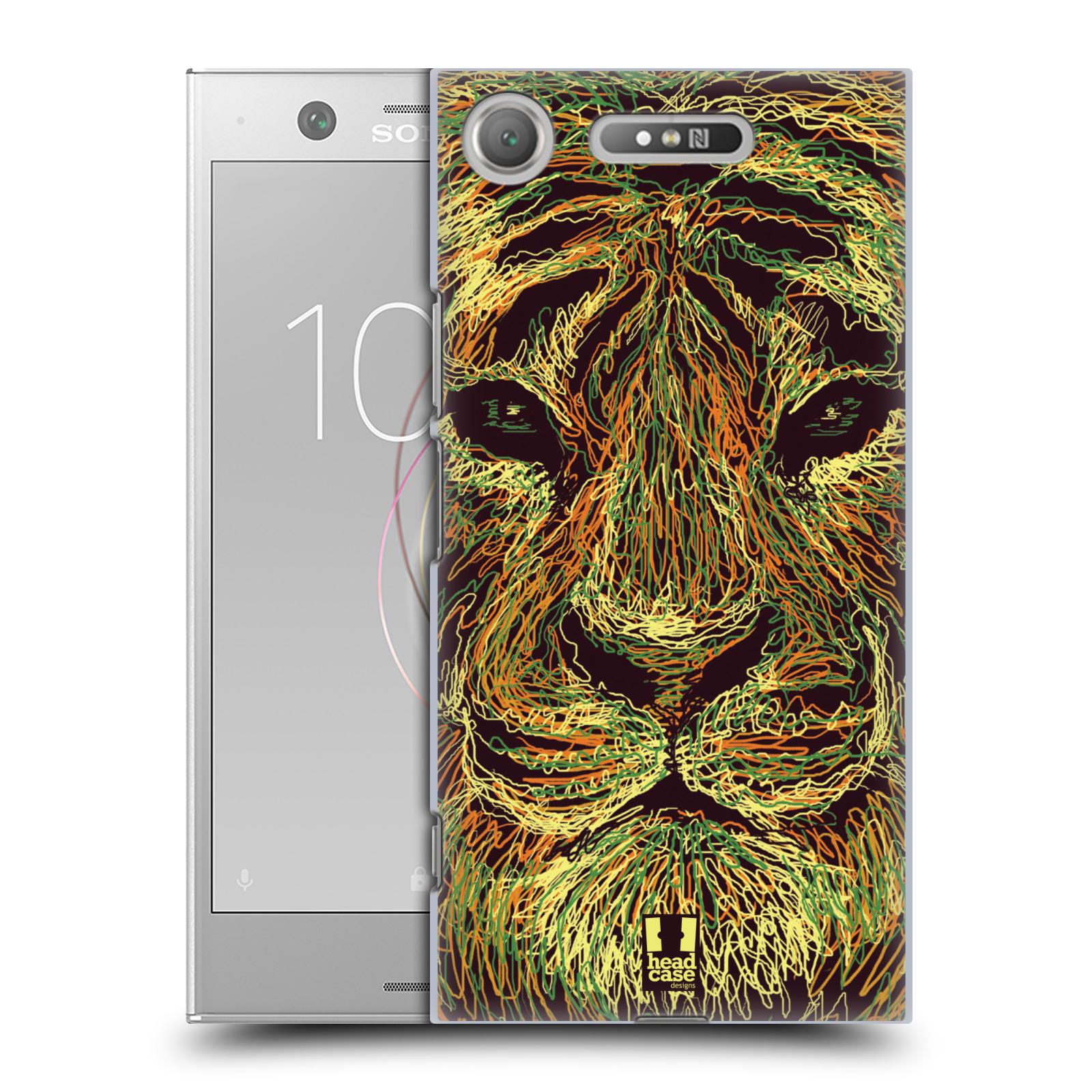 HEAD CASE plastový obal na mobil Sony Xperia XZ1 vzor zvíře čmáranice tygr