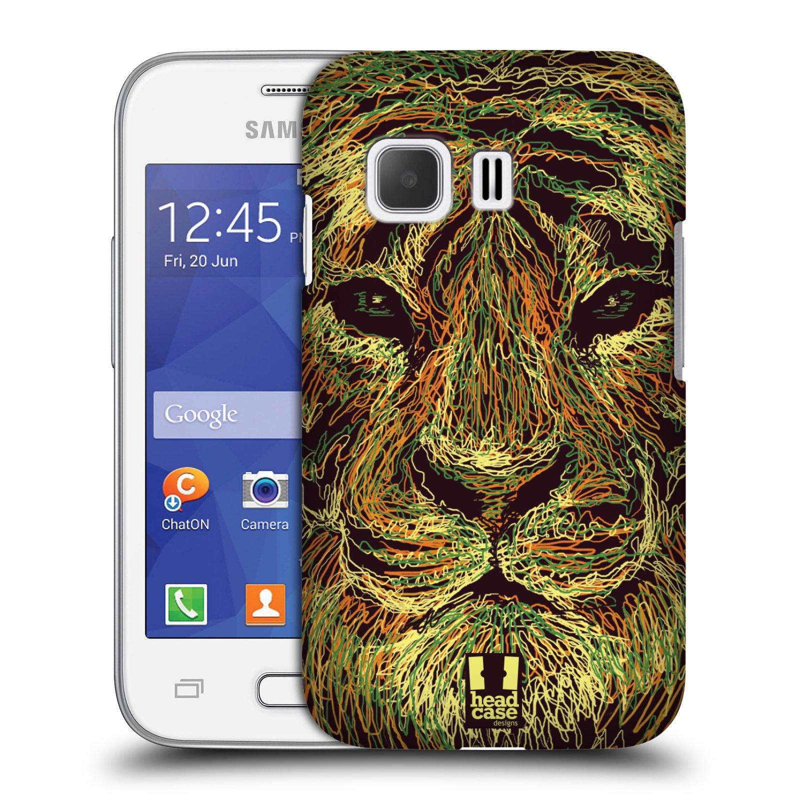 HEAD CASE plastový obal na mobil SAMSUNG Galaxy Young 2 (G130) vzor zvíře čmáranice tygr