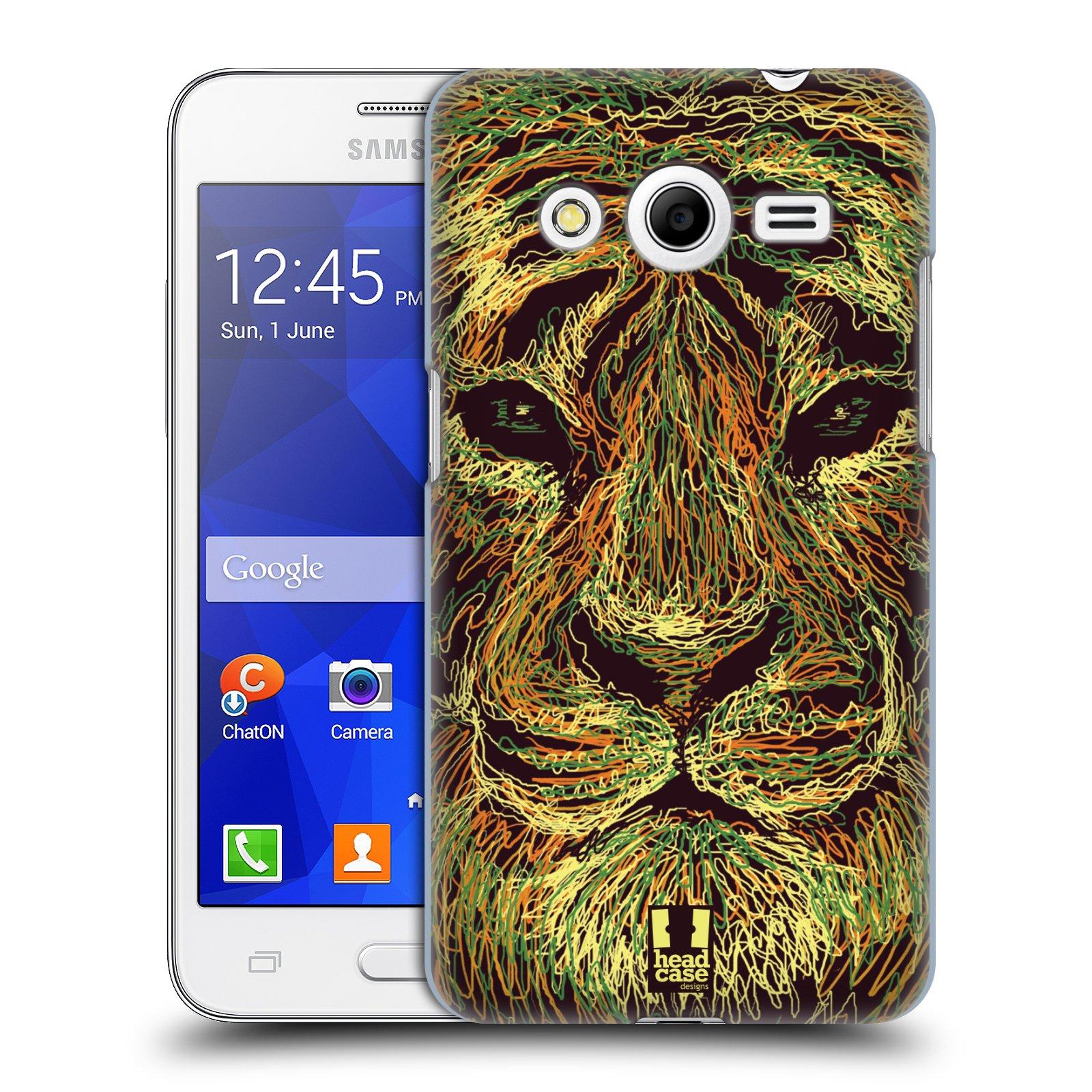 HEAD CASE plastový obal na mobil SAMSUNG GALAXY Core 2 (G355H) vzor zvíře čmáranice tygr