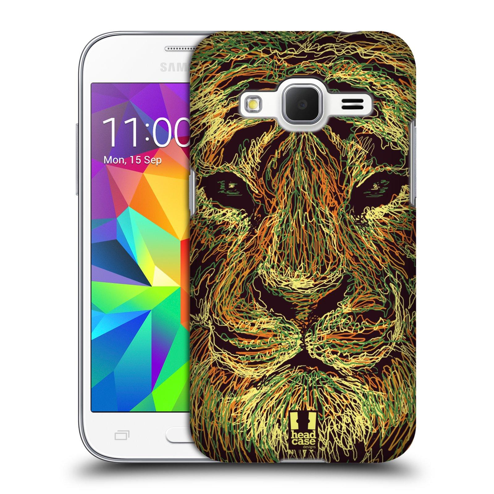 HEAD CASE plastový obal na mobil SAMSUNG GALAXY Core Prime (Core Prime VE) vzor zvíře čmáranice tygr