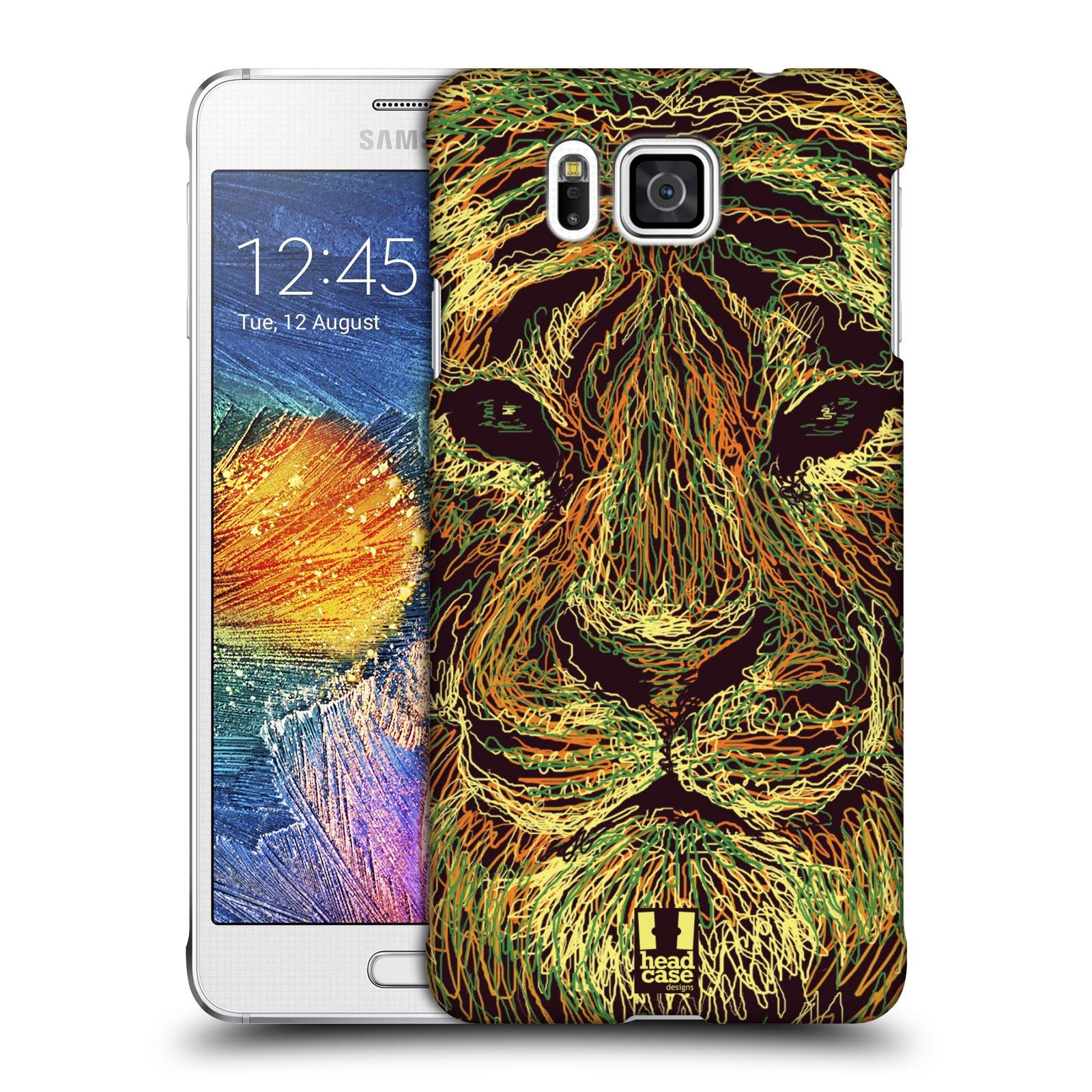HEAD CASE plastový obal na mobil SAMSUNG Galaxy Alpha (G850) vzor zvíře čmáranice tygr
