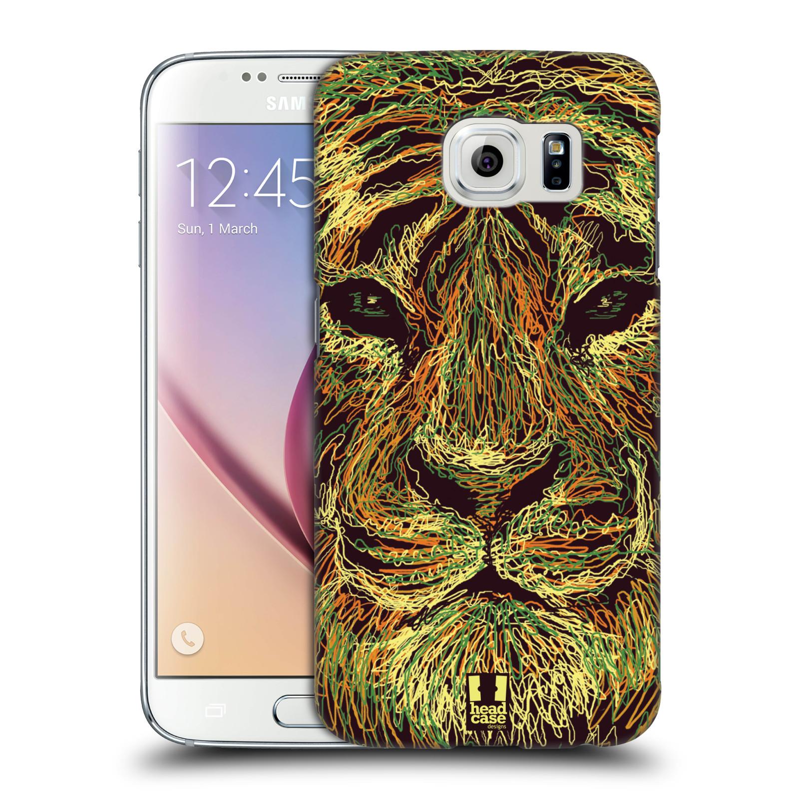 HEAD CASE plastový obal na mobil SAMSUNG Galaxy S6 (G9200, G920F) vzor zvíře čmáranice tygr