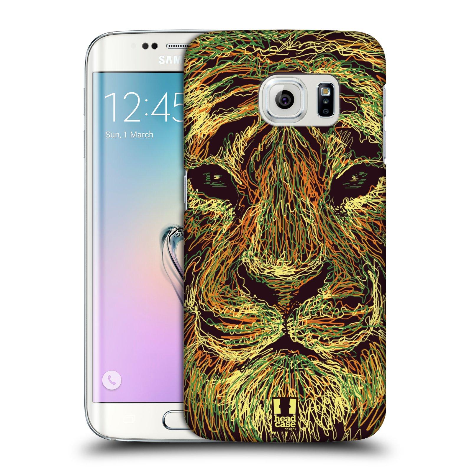 HEAD CASE plastový obal na mobil SAMSUNG Galaxy S6 EDGE (G9250, G925, G925F) vzor zvíře čmáranice tygr