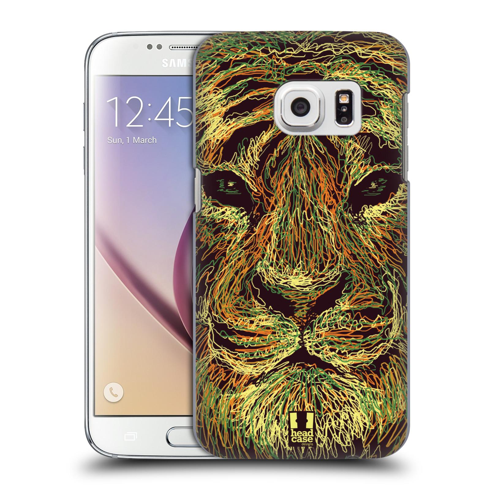 HEAD CASE plastový obal na mobil SAMSUNG GALAXY S7 vzor zvíře čmáranice tygr