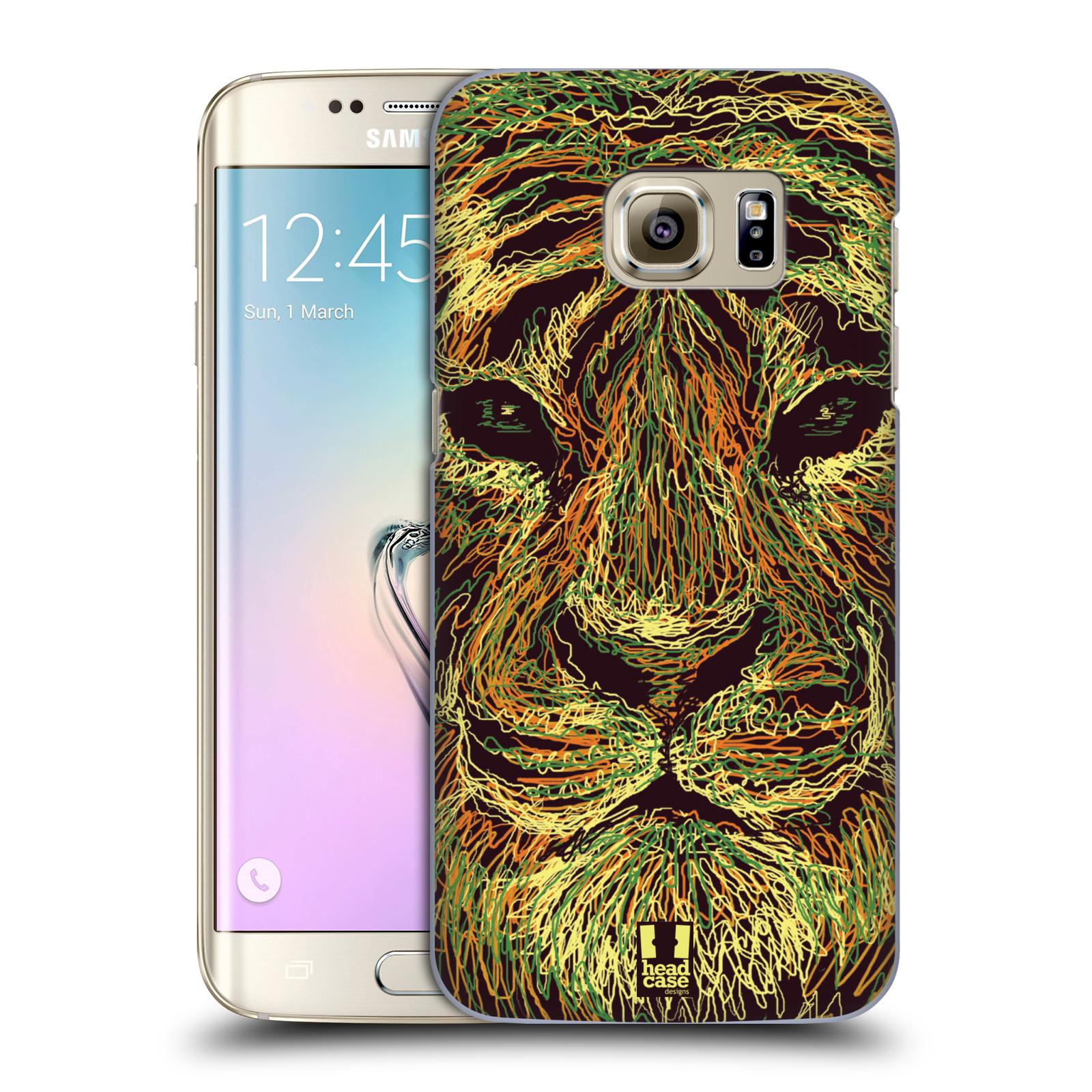 HEAD CASE plastový obal na mobil SAMSUNG GALAXY S7 EDGE vzor zvíře čmáranice tygr