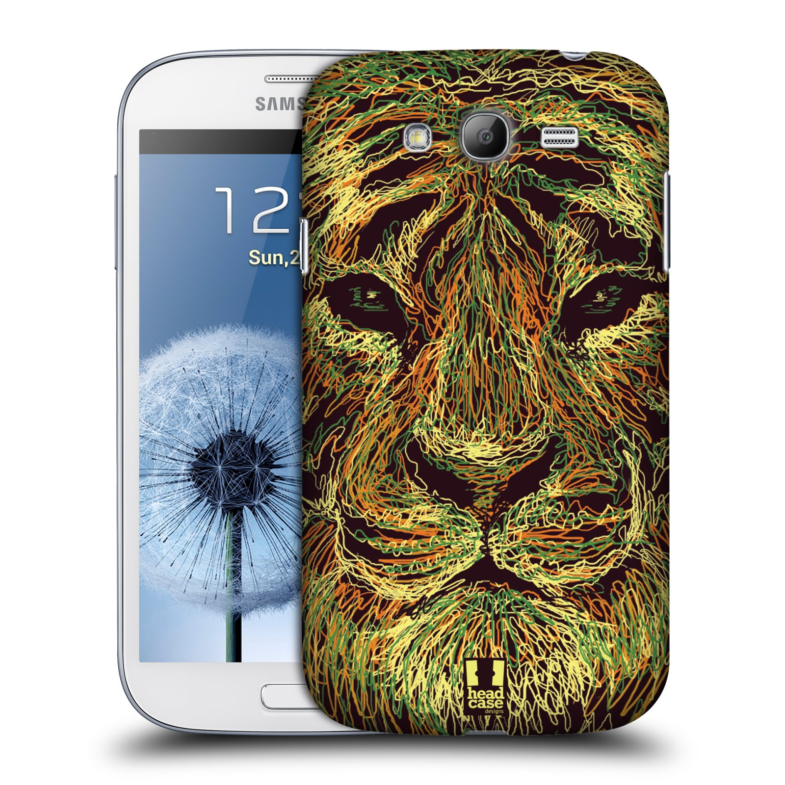 HEAD CASE plastový obal na mobil SAMSUNG GALAXY Grand i9080 vzor zvíře čmáranice tygr