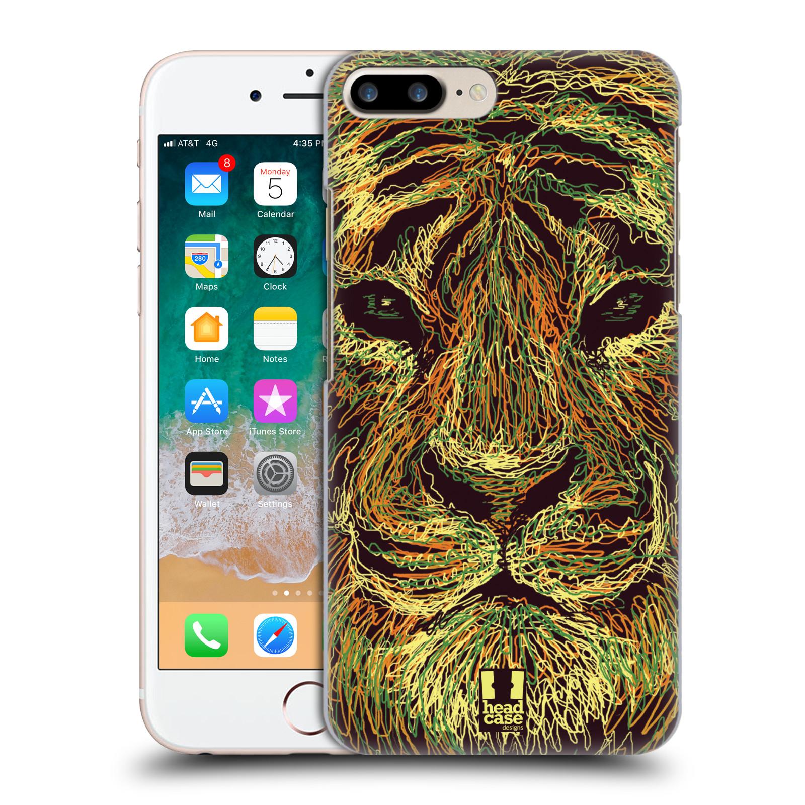 HEAD CASE plastový obal na mobil Apple Iphone 7 PLUS vzor zvíře čmáranice tygr