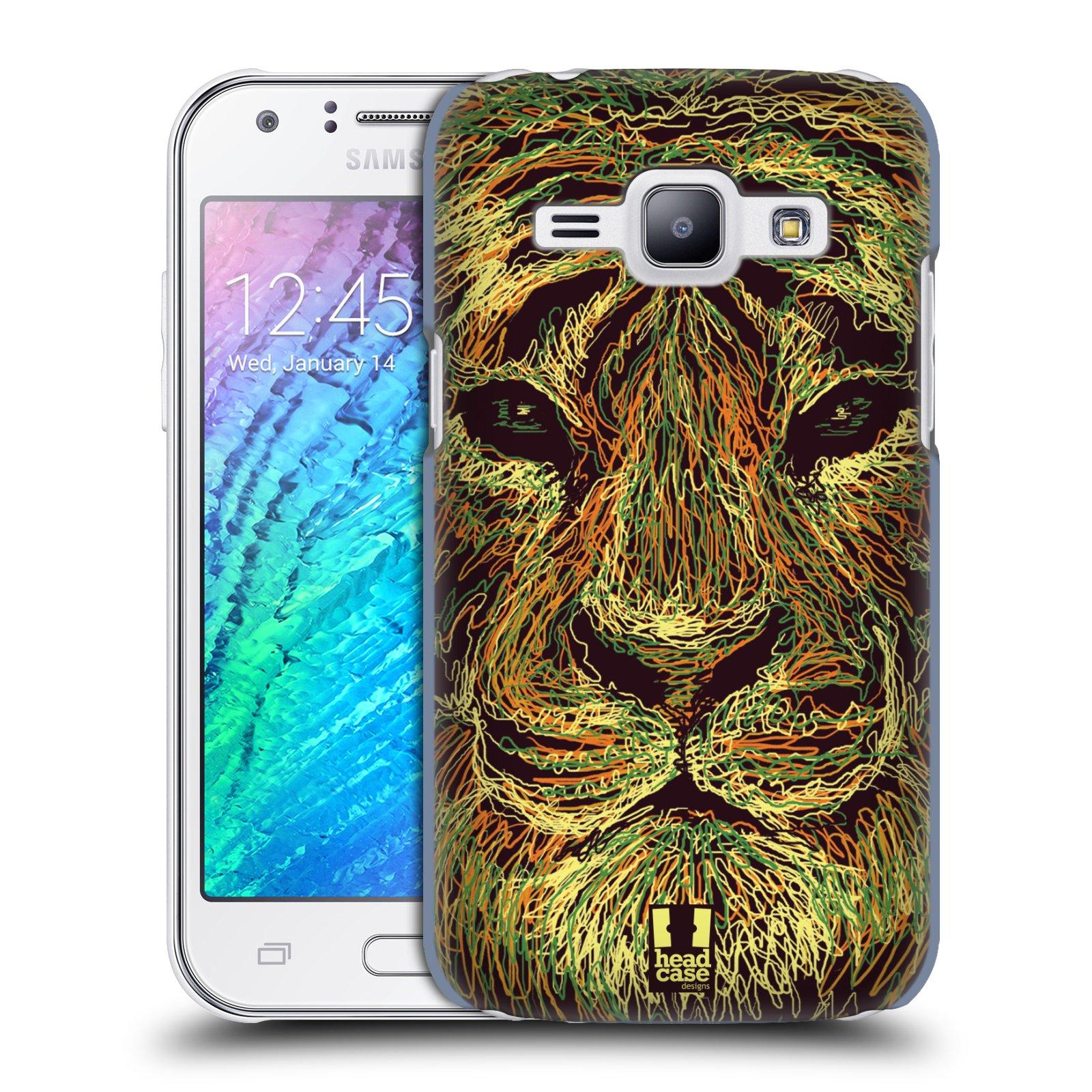 HEAD CASE plastový obal na mobil SAMSUNG Galaxy J1, J100 vzor zvíře čmáranice tygr