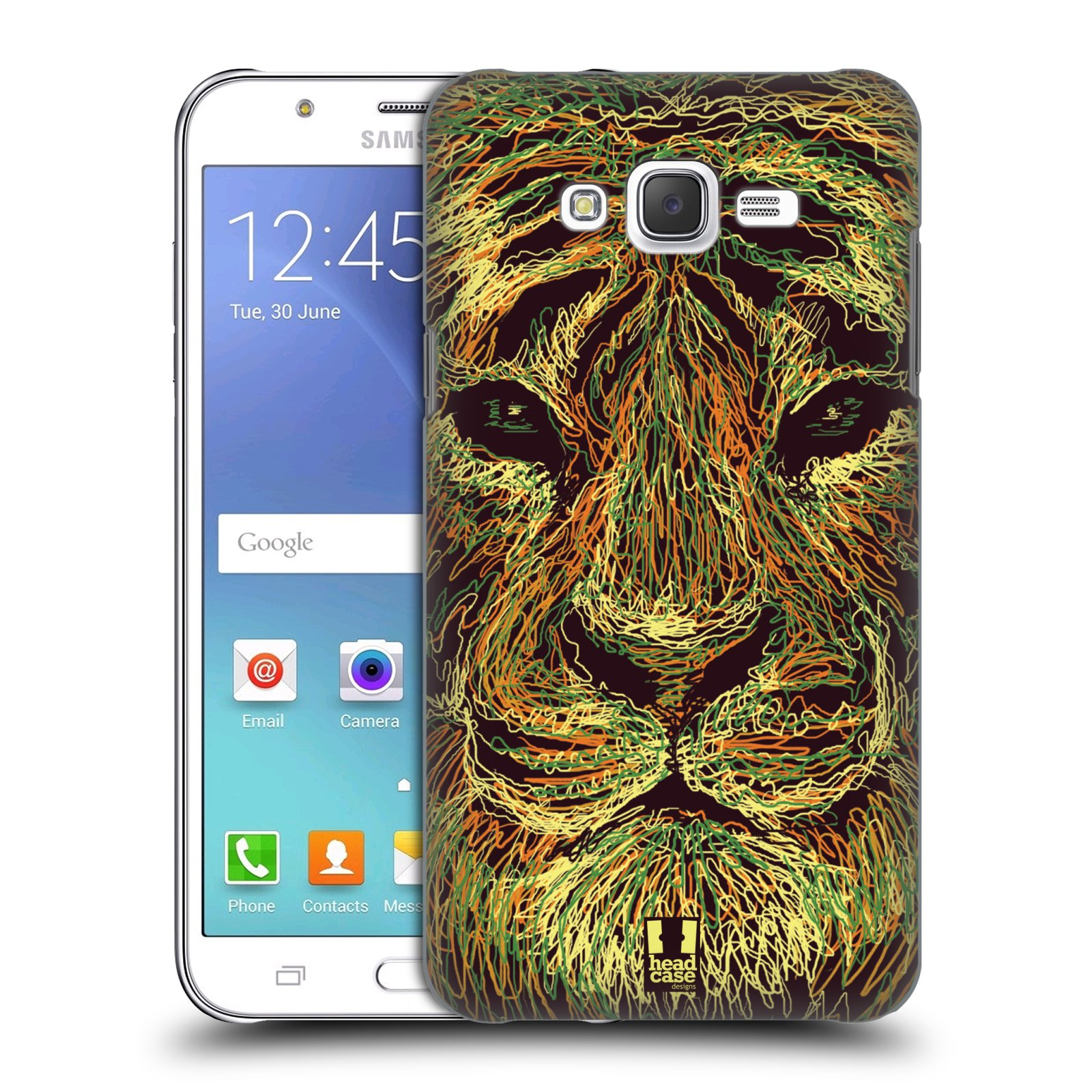HEAD CASE plastový obal na mobil SAMSUNG Galaxy J7, J700 vzor zvíře čmáranice tygr
