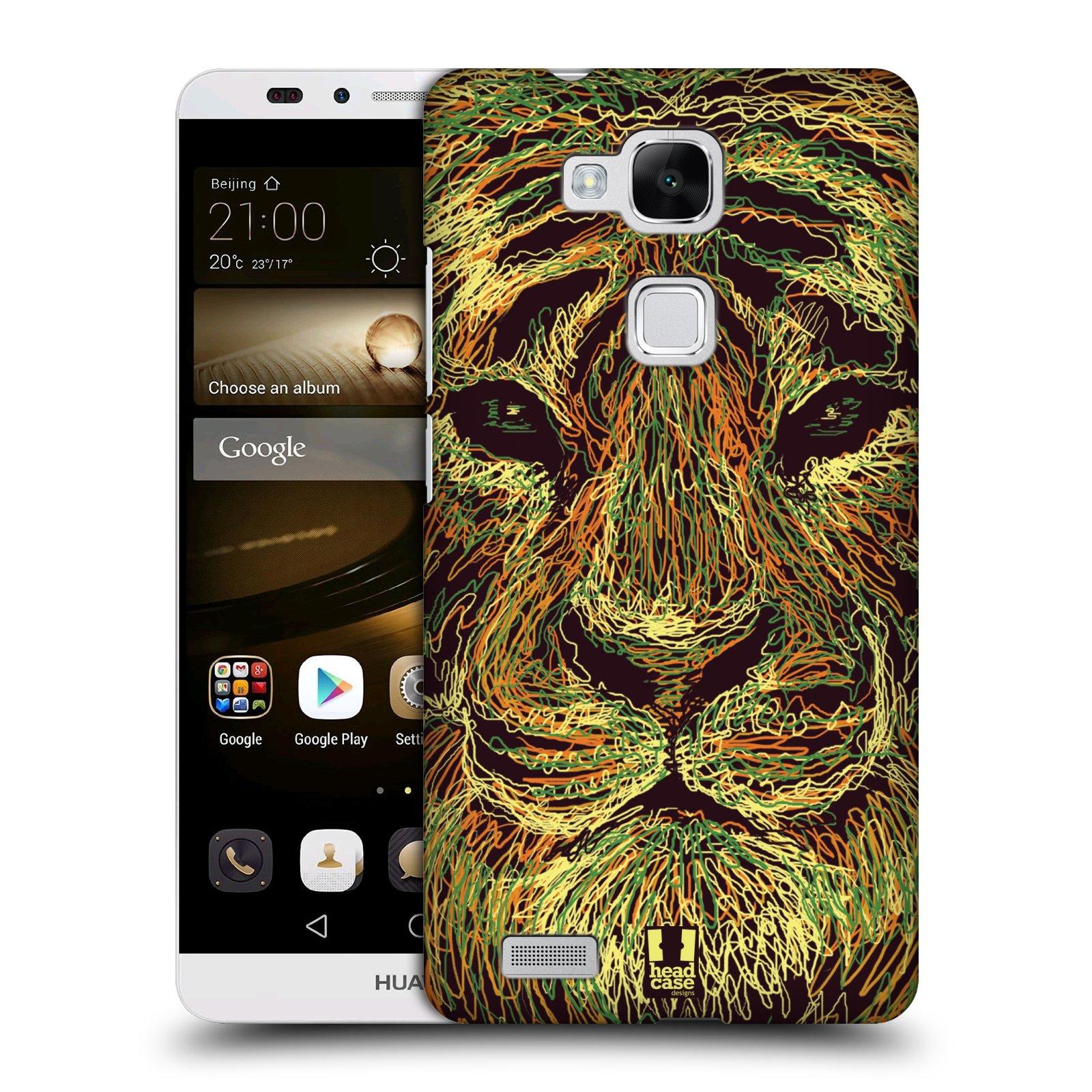 HEAD CASE plastový obal na mobil Huawei Mate 7 vzor zvíře čmáranice tygr